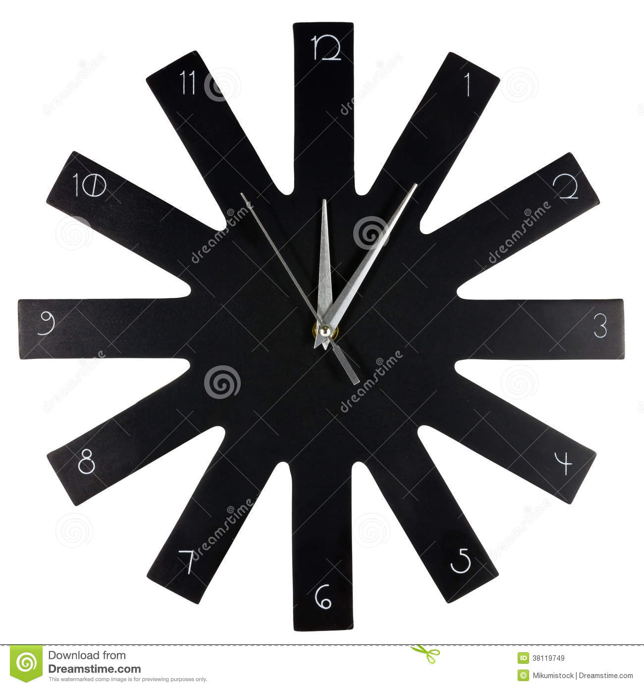 horloge murale moderne noire stock images 31 photos. Black Bedroom Furniture Sets. Home Design Ideas