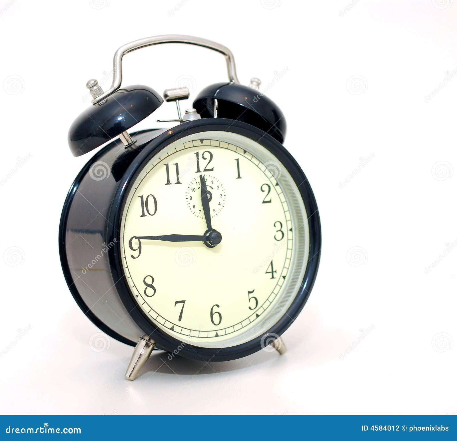 Horloge noire d alarme