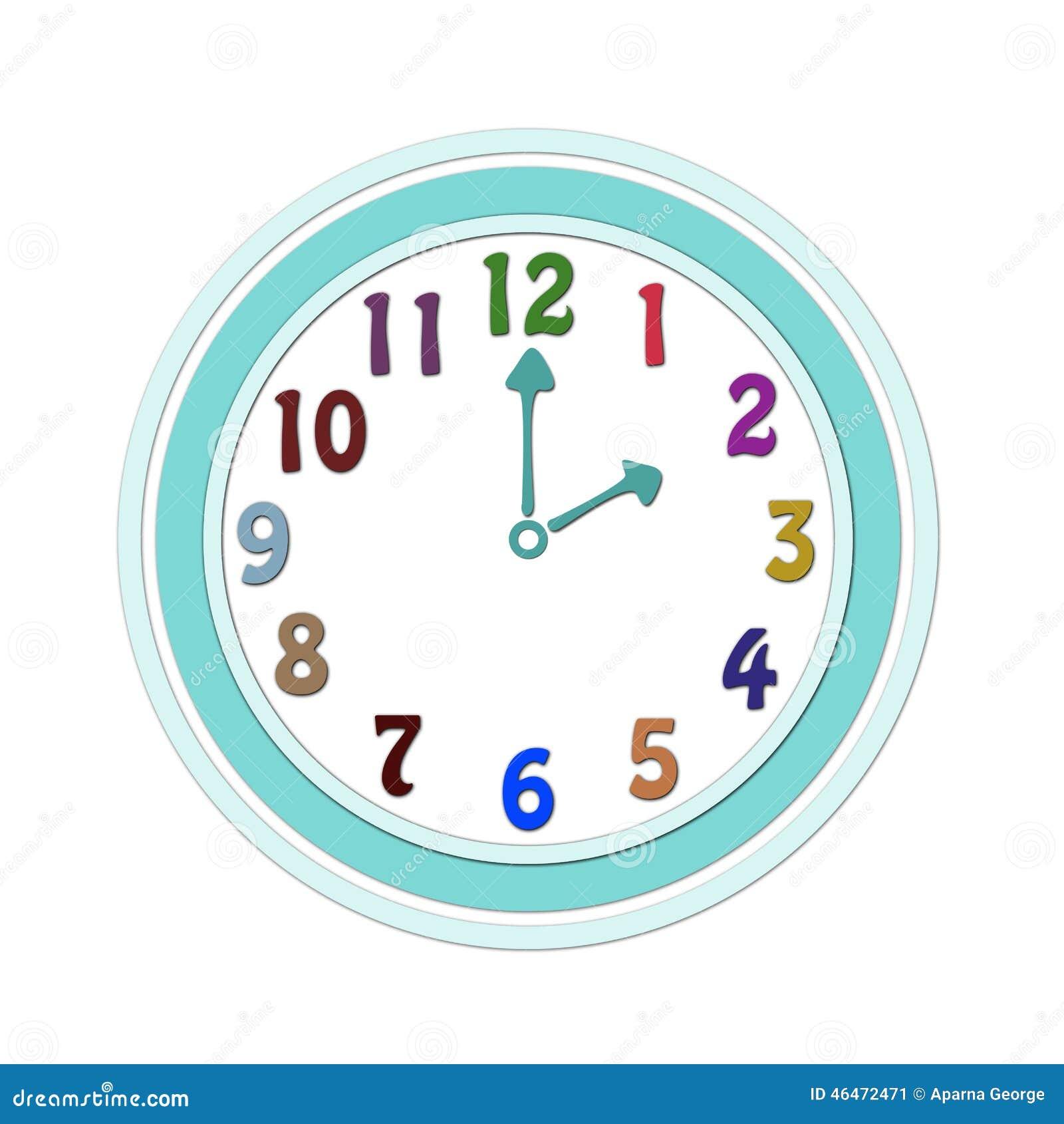 horloge pour des enfants illustration stock image 46472471. Black Bedroom Furniture Sets. Home Design Ideas