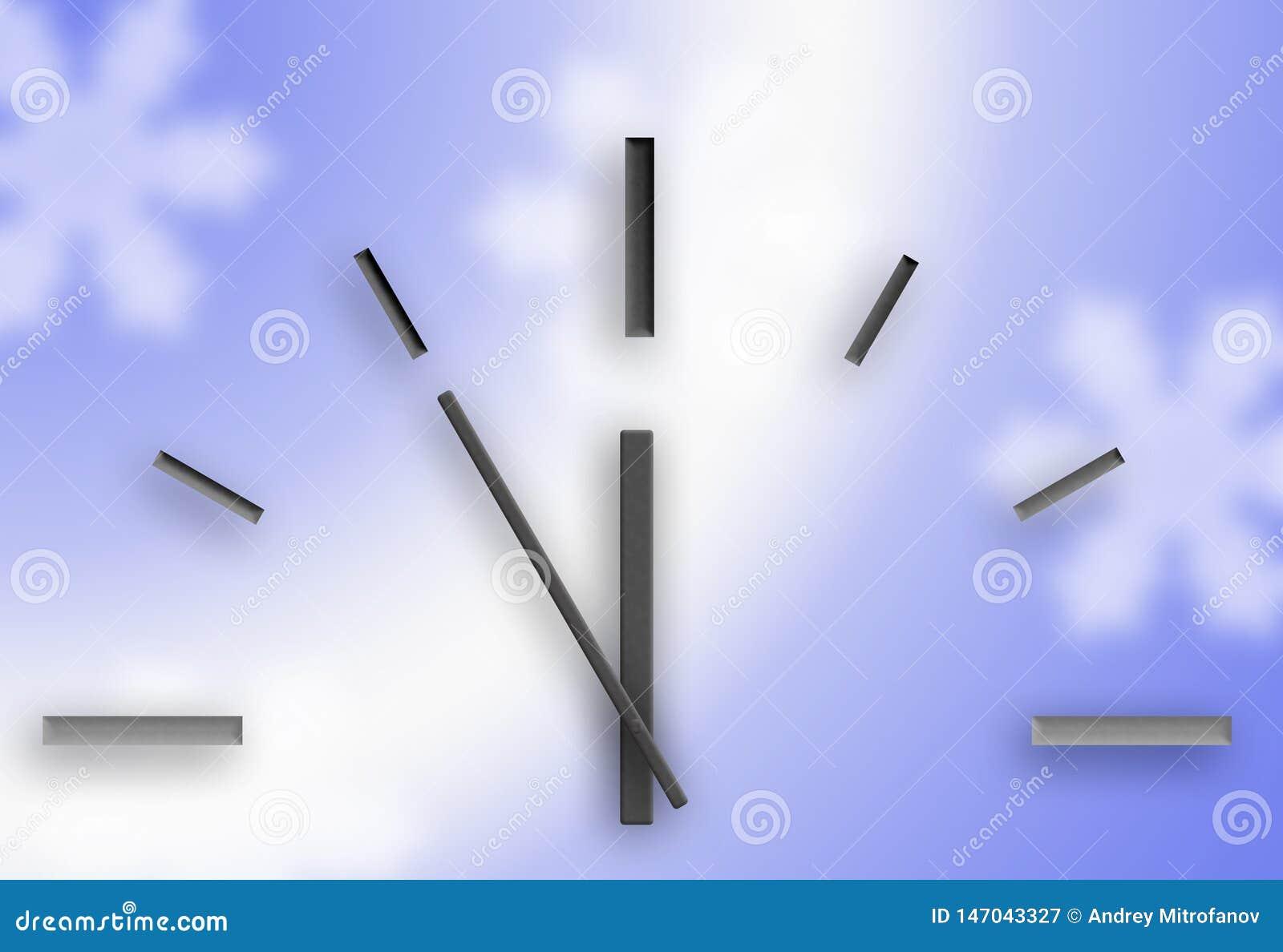 Horloge sur un fond bleu No?l
