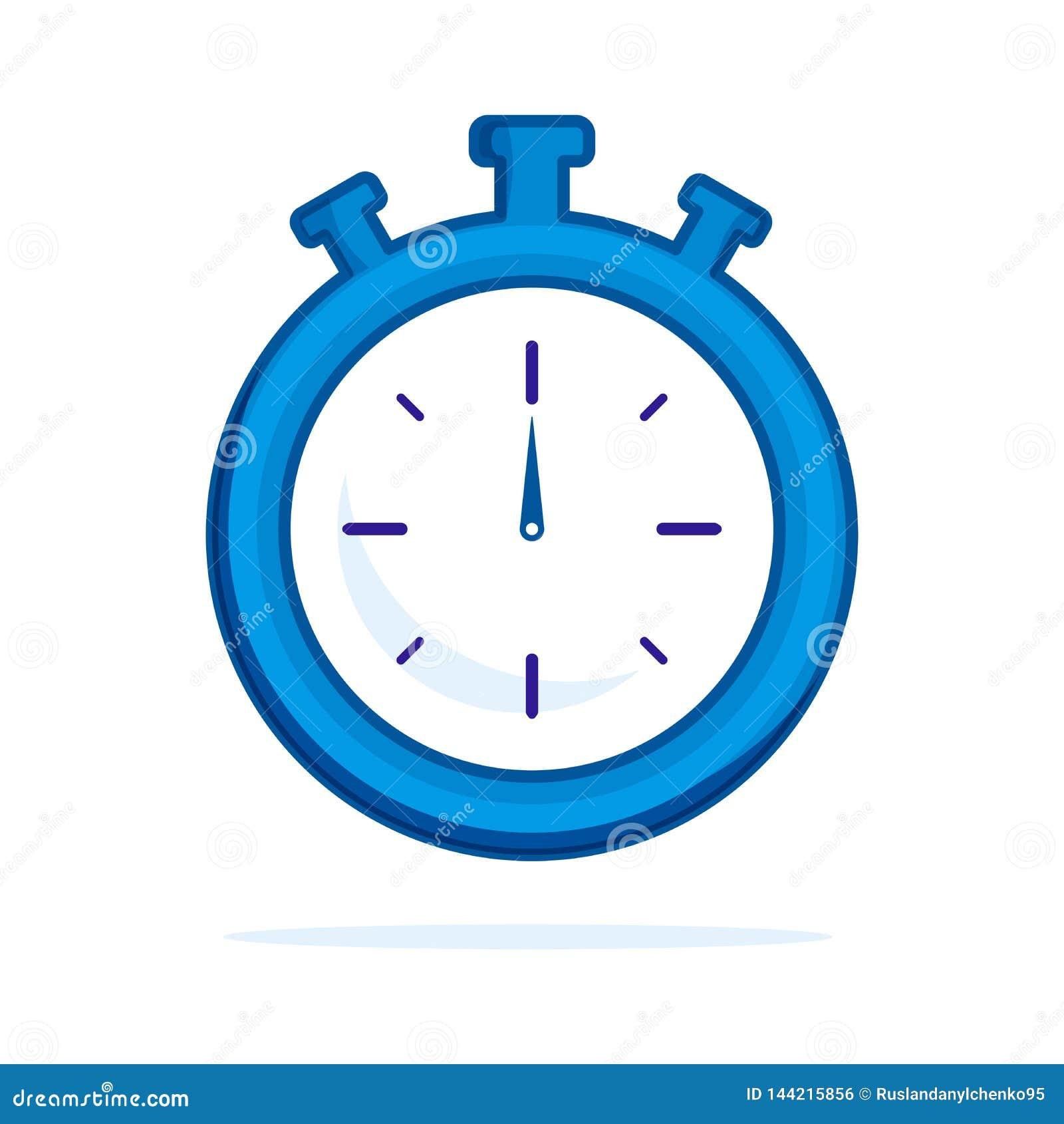 Horloge vlak pictogram Enige hoogte - het symbool van het kwaliteitsoverzicht van geschiktheid voor Webontwerp of mobiele app Dun