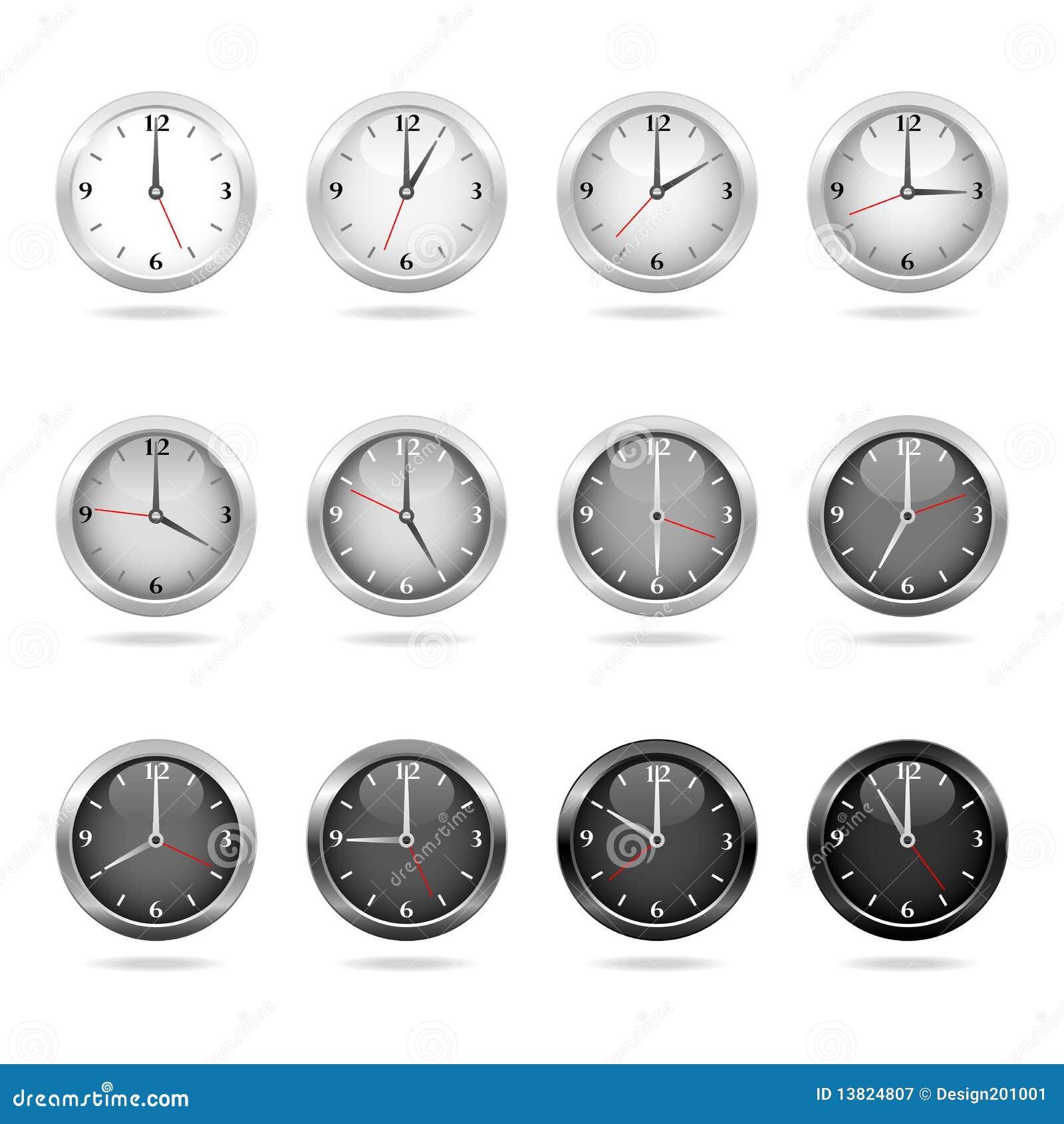 Horloges et montres - positionnement 2 - blanc et noir