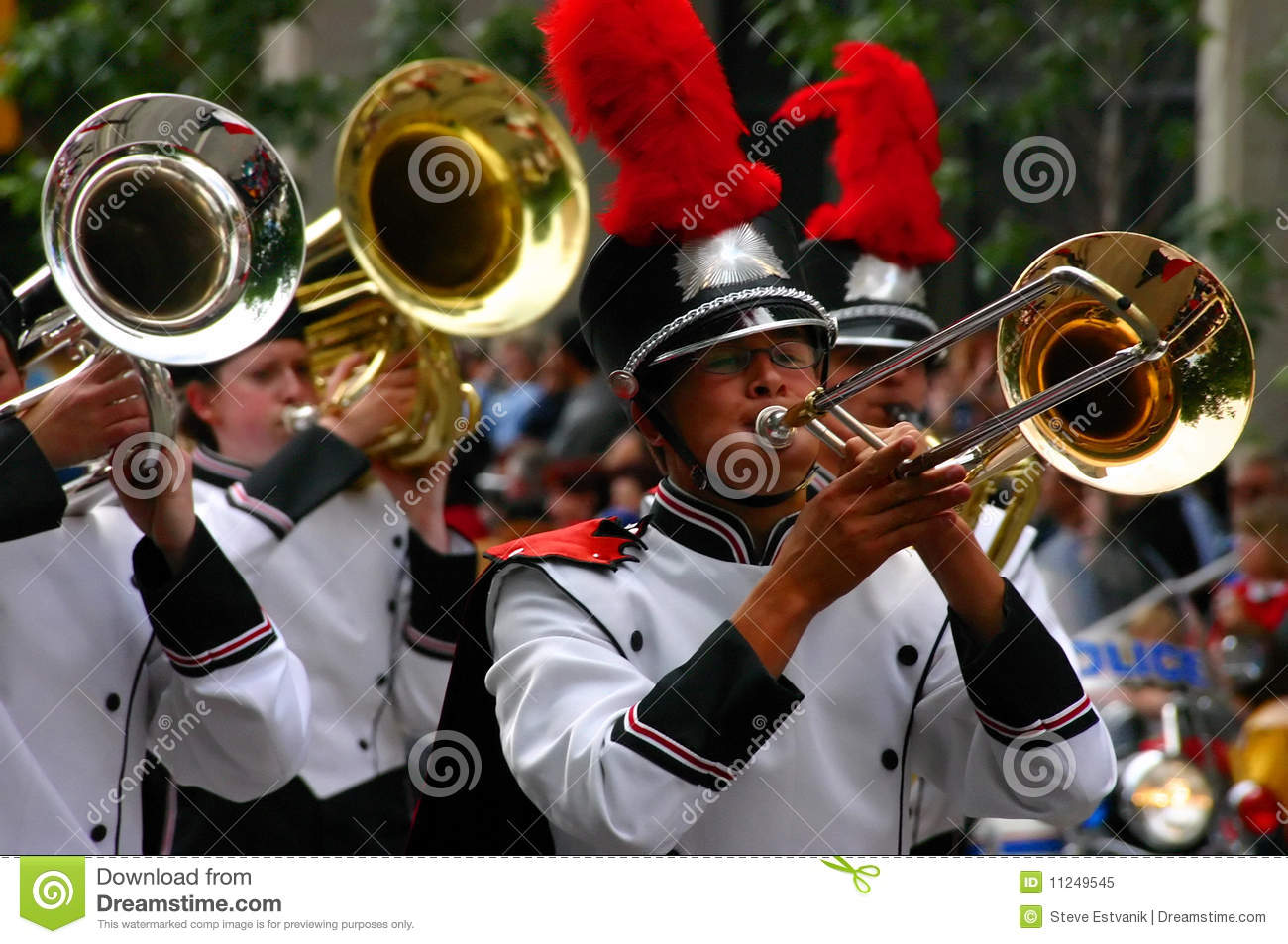 Horn Players Marching Band Editorial Image Image Of