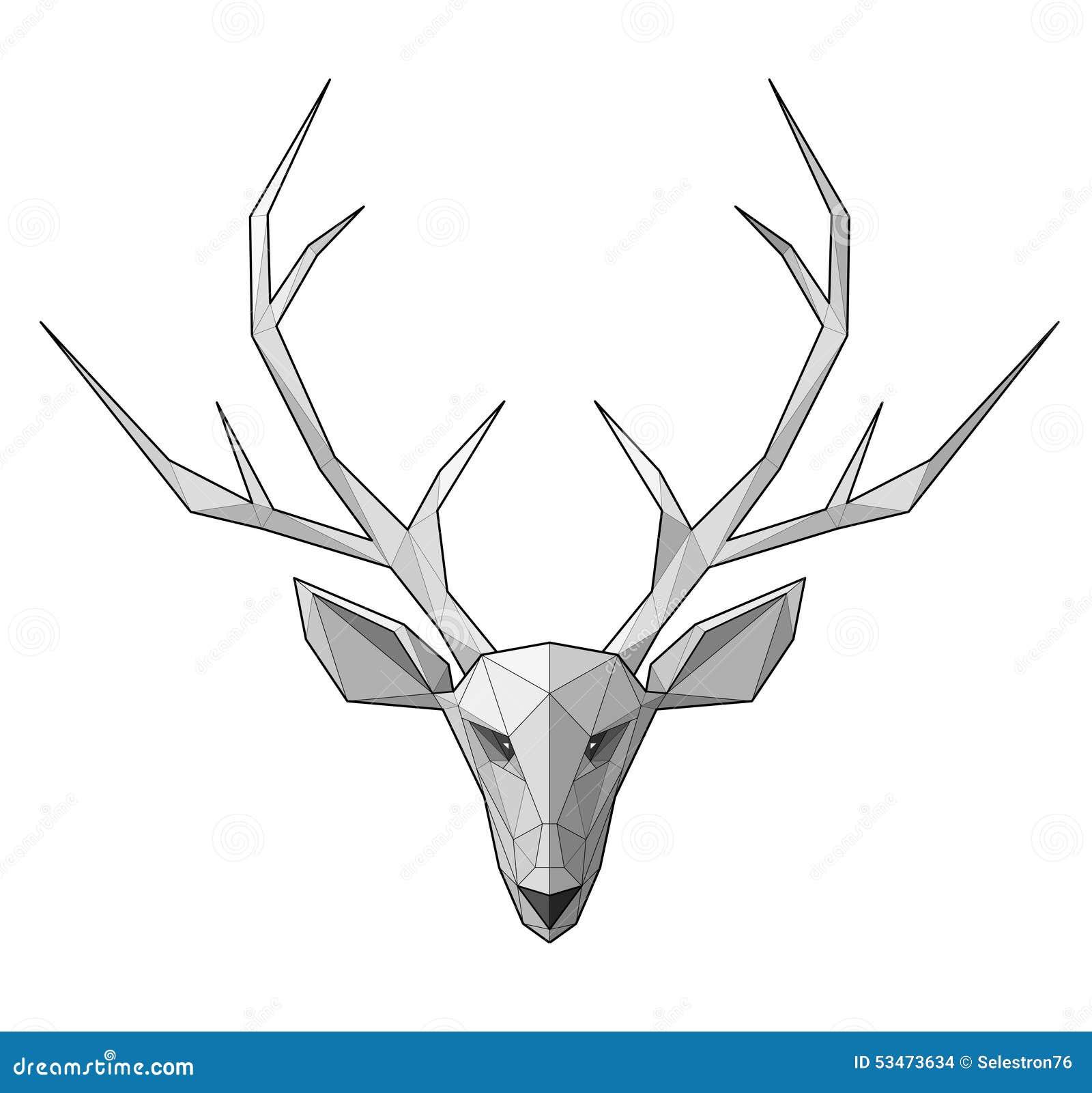 deer gray low poly - photo #27