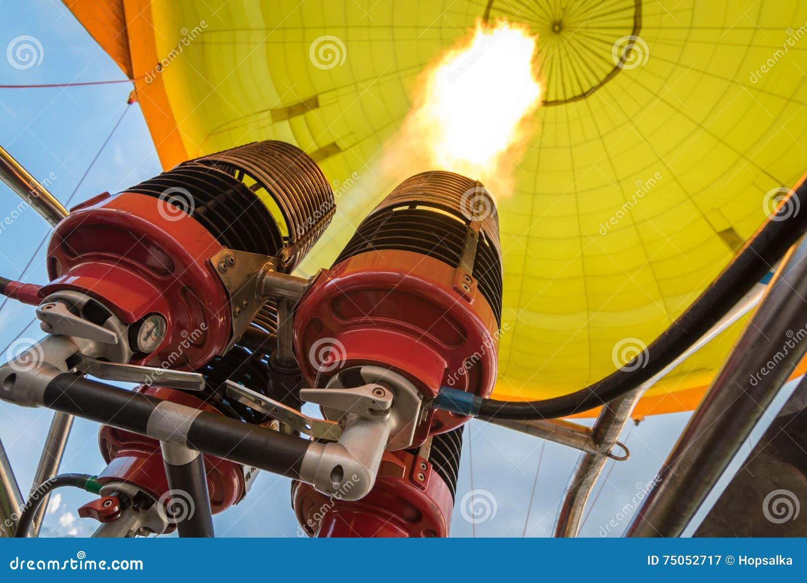 Hornillas del globo del aire caliente