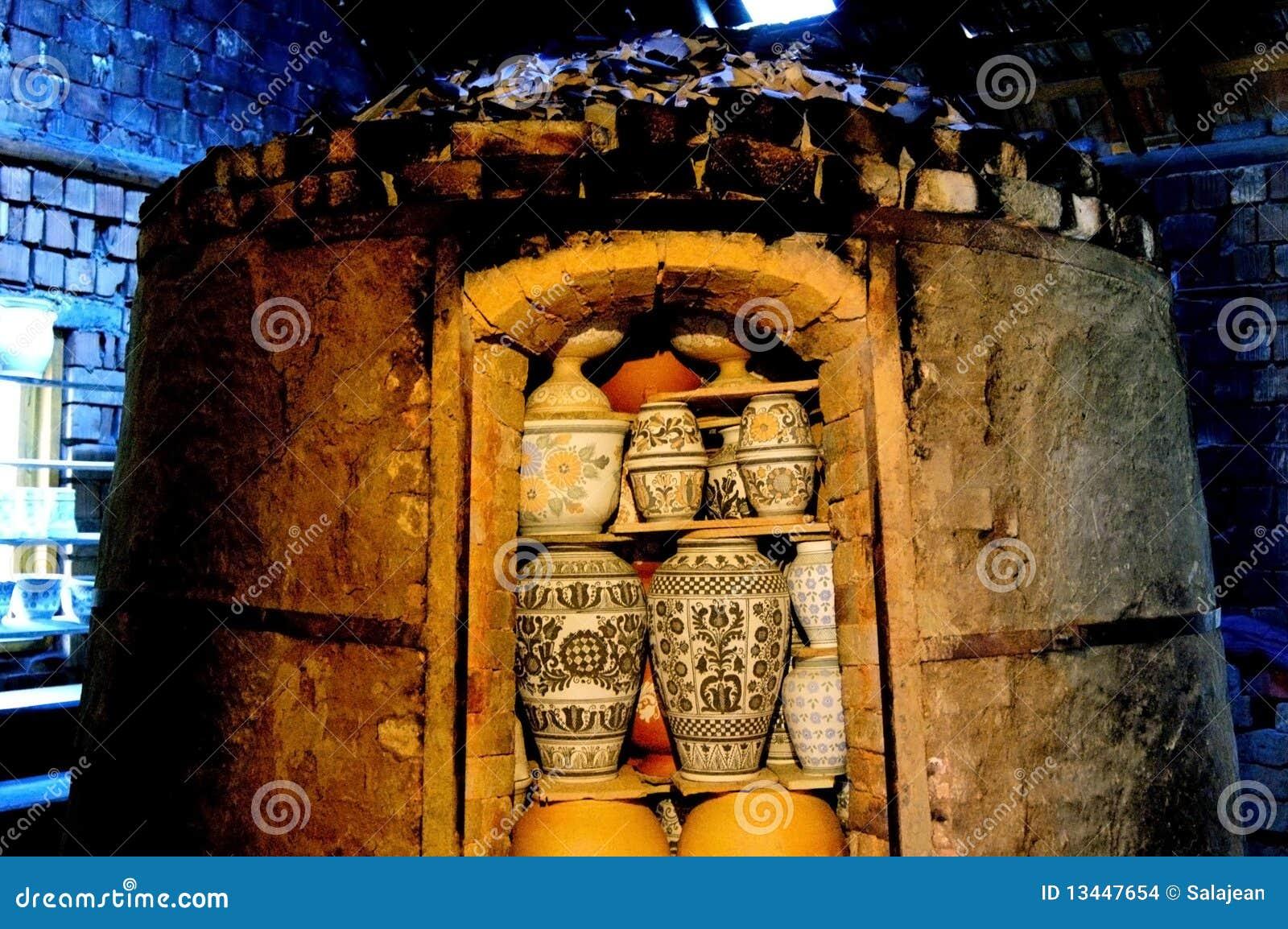 Horno, horno para quemar, cerámica de la asación
