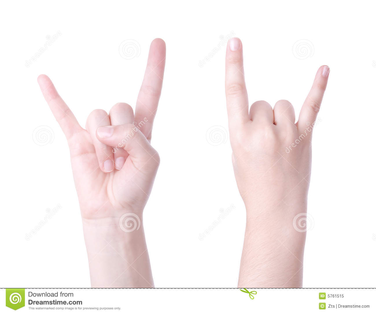 Horns Hand Sign Stock Image Image Of Human Background 5761515