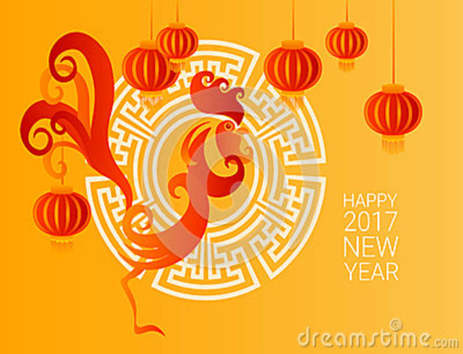 Horoscope chinois d Asiatique de lanterne de nouvel de 2017 ans oiseau heureux de coq