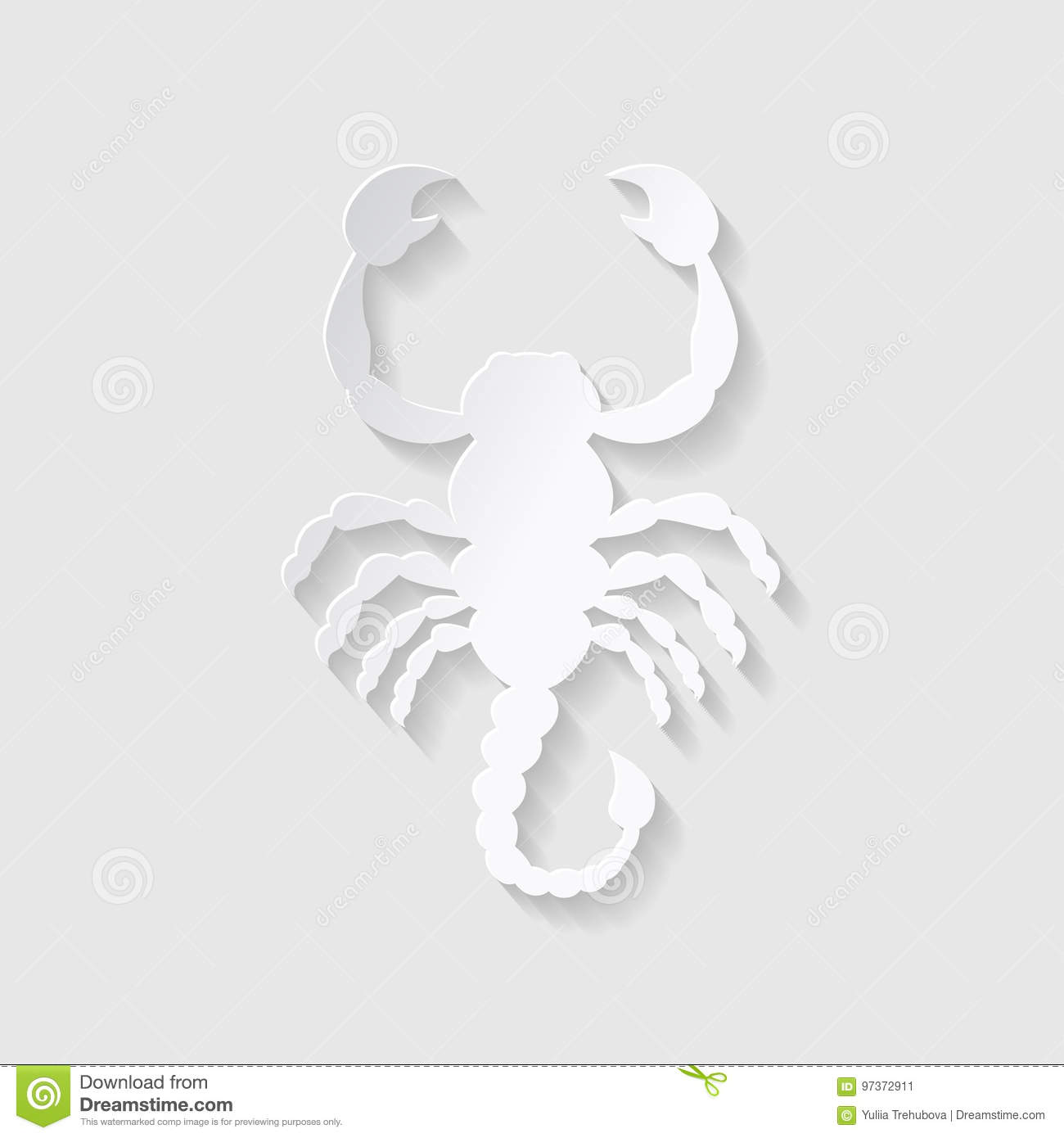 7bb20a04a52c4 Horoscope Paper Cut Style. Concept For Scorpio. Vector Illustration ...