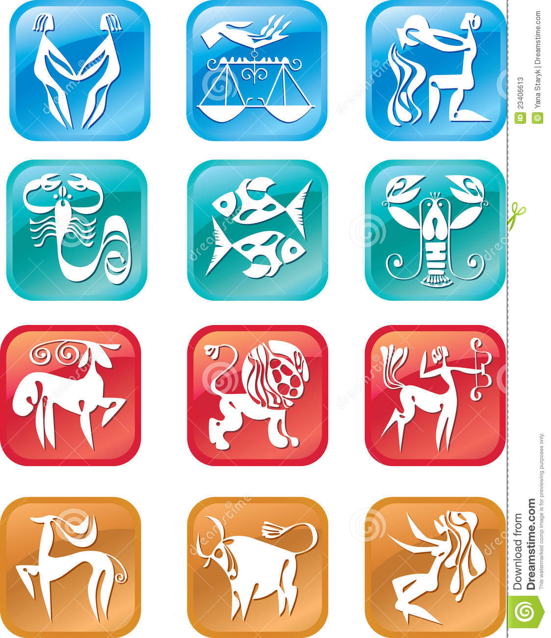 Horoscope Zodiac Signs Stock Photos - Image: 23406613