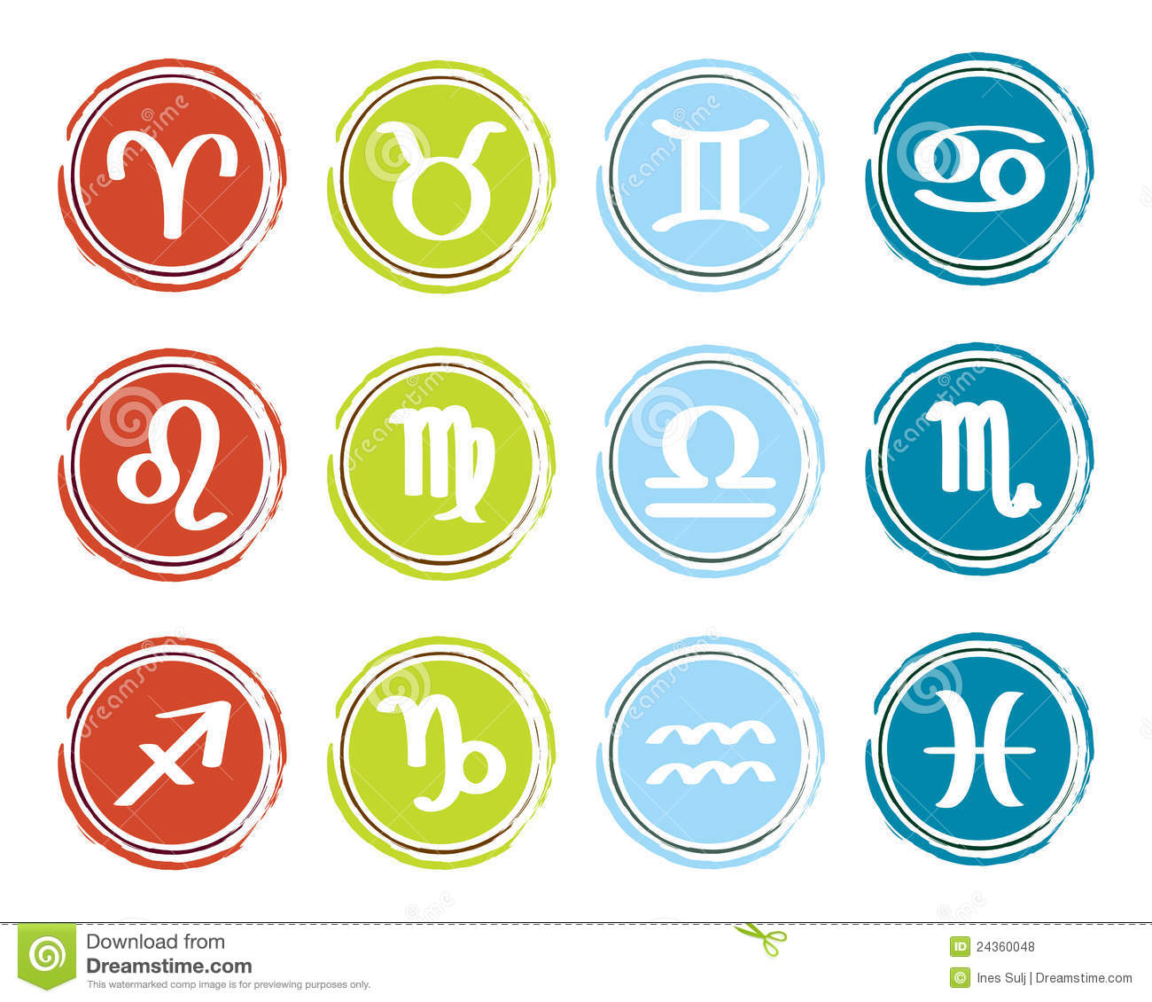 Horoscope Zodiac Signs Stock Vector Image Of Taurus
