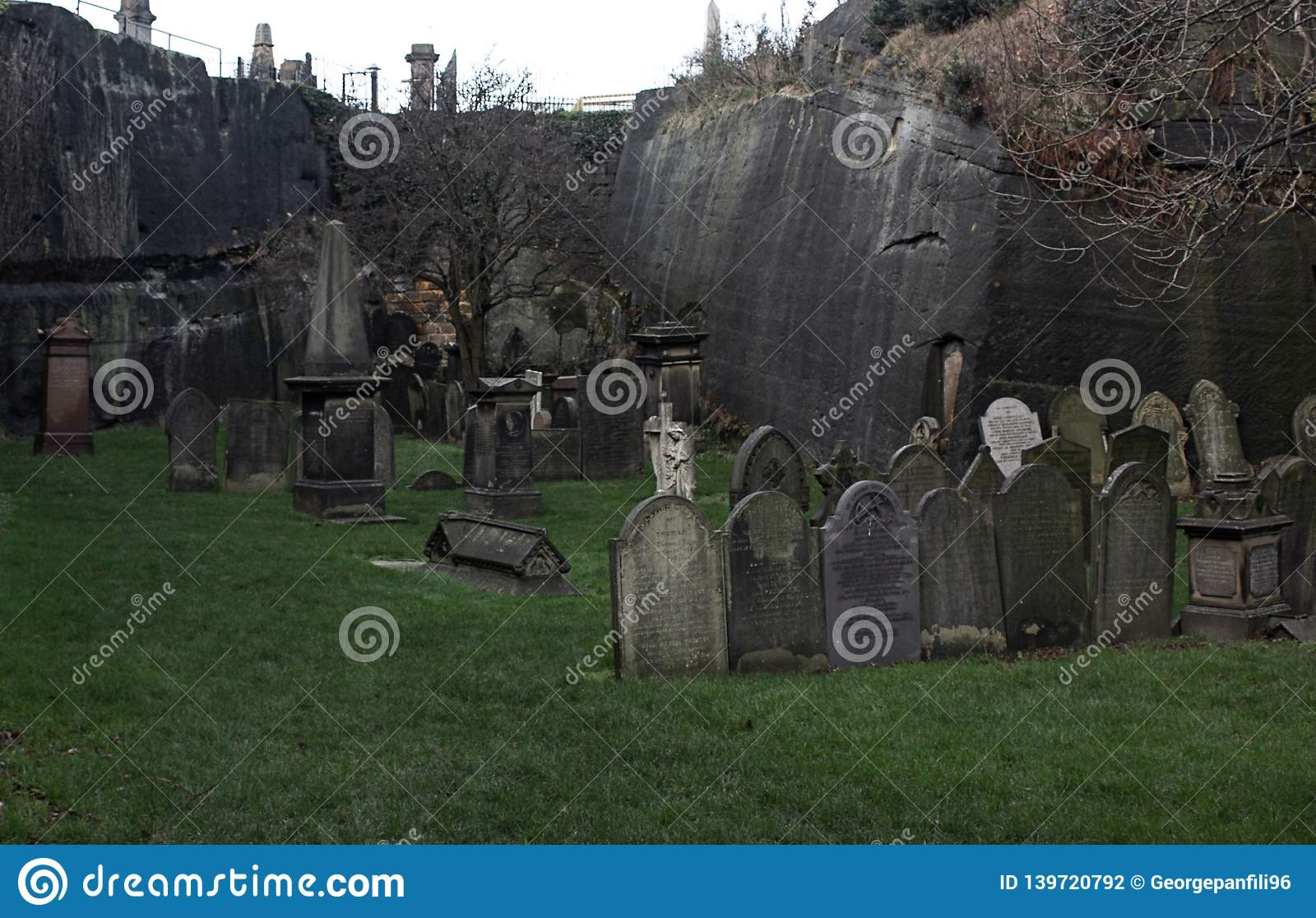 Horror cemetery Liverpool in United Kingdom