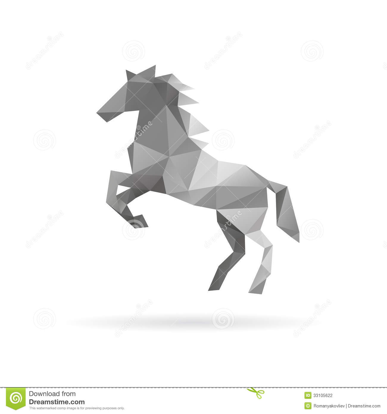 Horse Abstract On A White Backgrounds