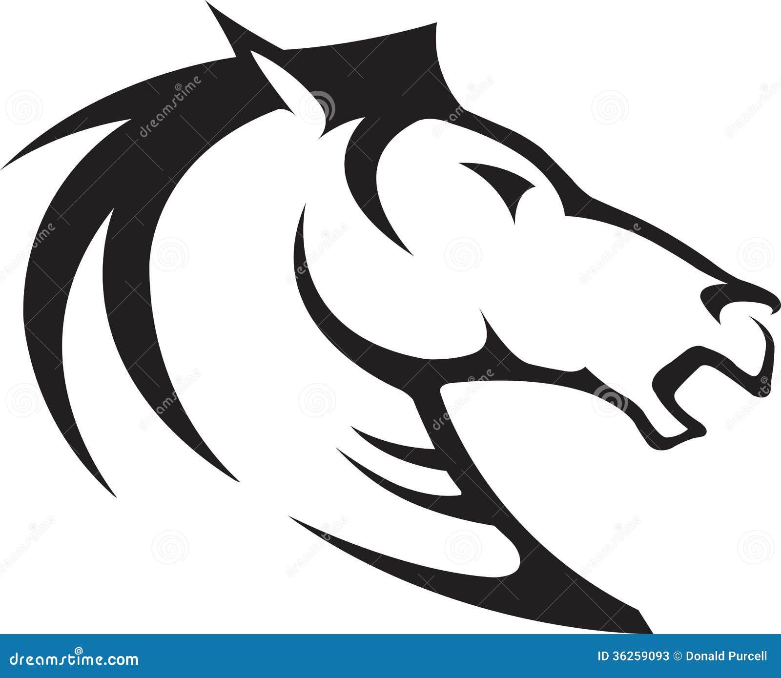 horse bust profile stock photos