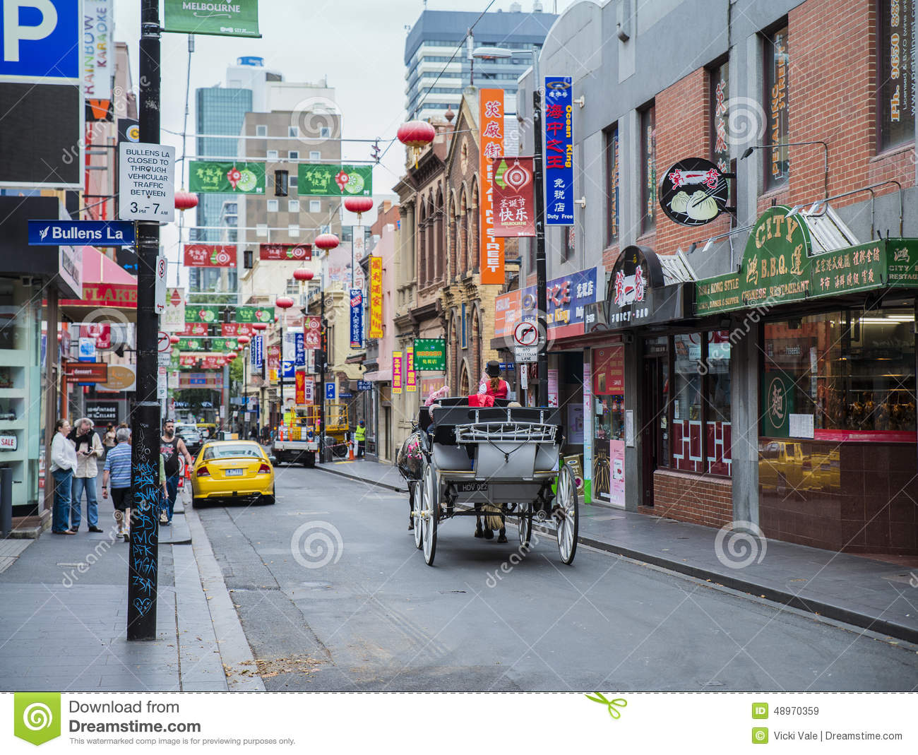 horse and carriage chinatown melbourne australia. Black Bedroom Furniture Sets. Home Design Ideas