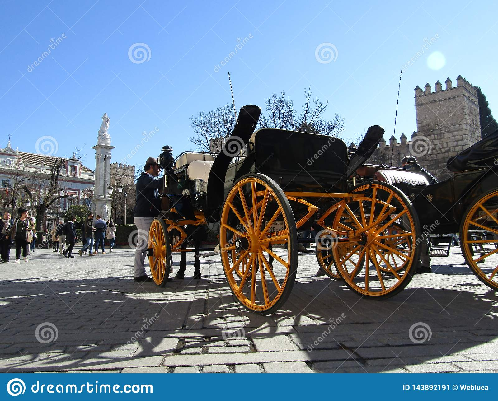 Horse carriages in Sevilla, Spain