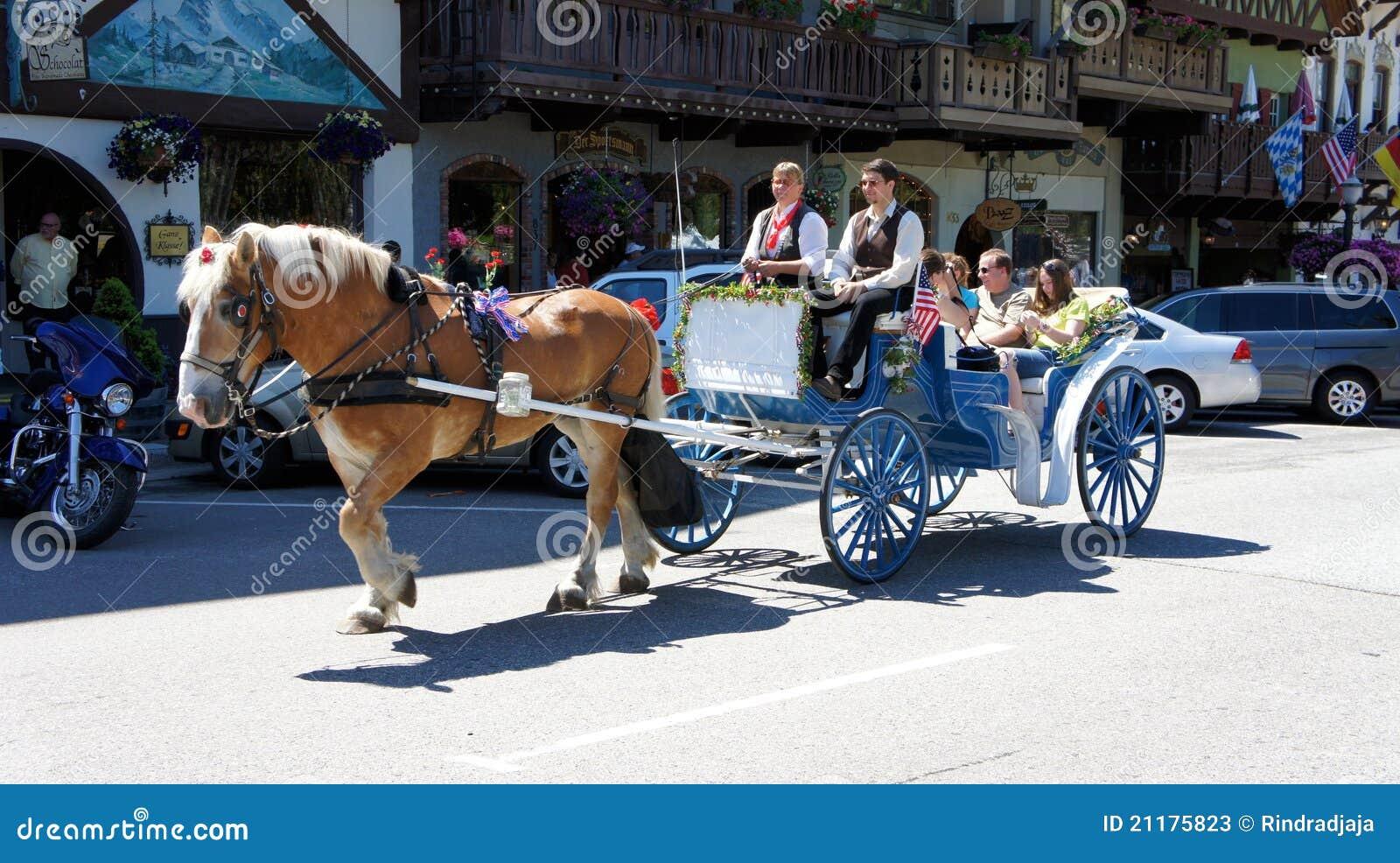 Horse cart in Leavenworth, Washington