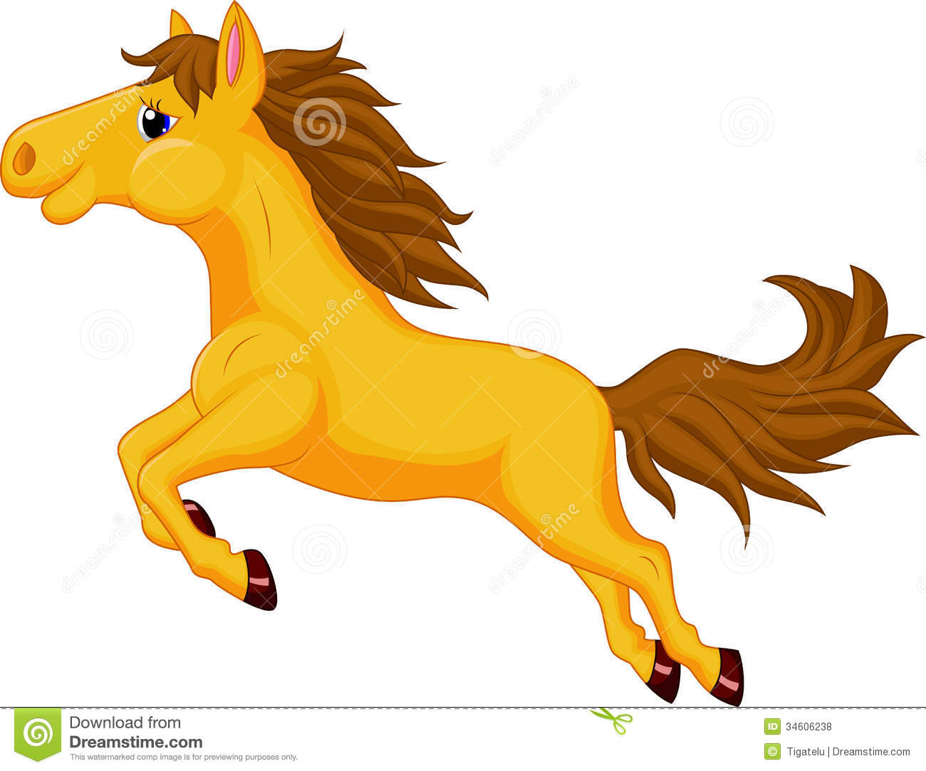 Horse Cartoon Jumping Royalty Free Stock Photos Image