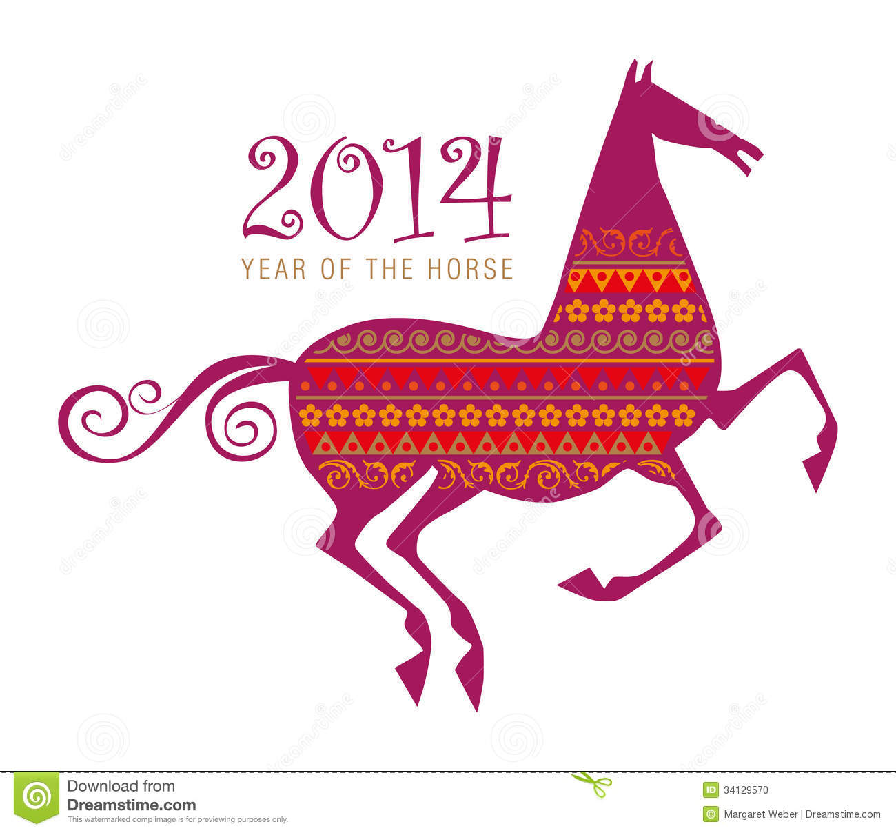 Horse Chinese New Year Symbol Stock Vector Illustration Of Year