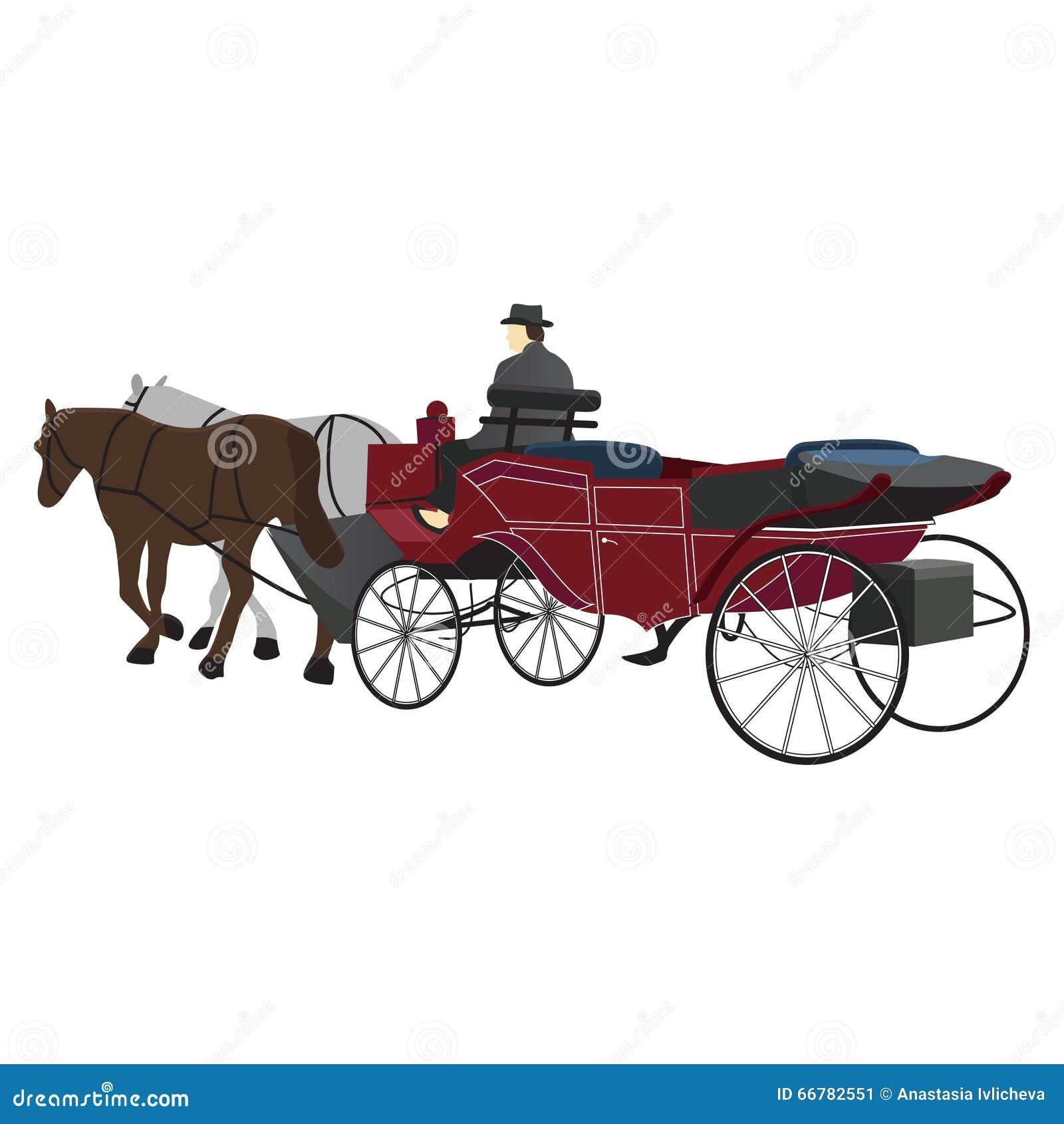 Royal horse carriage vector
