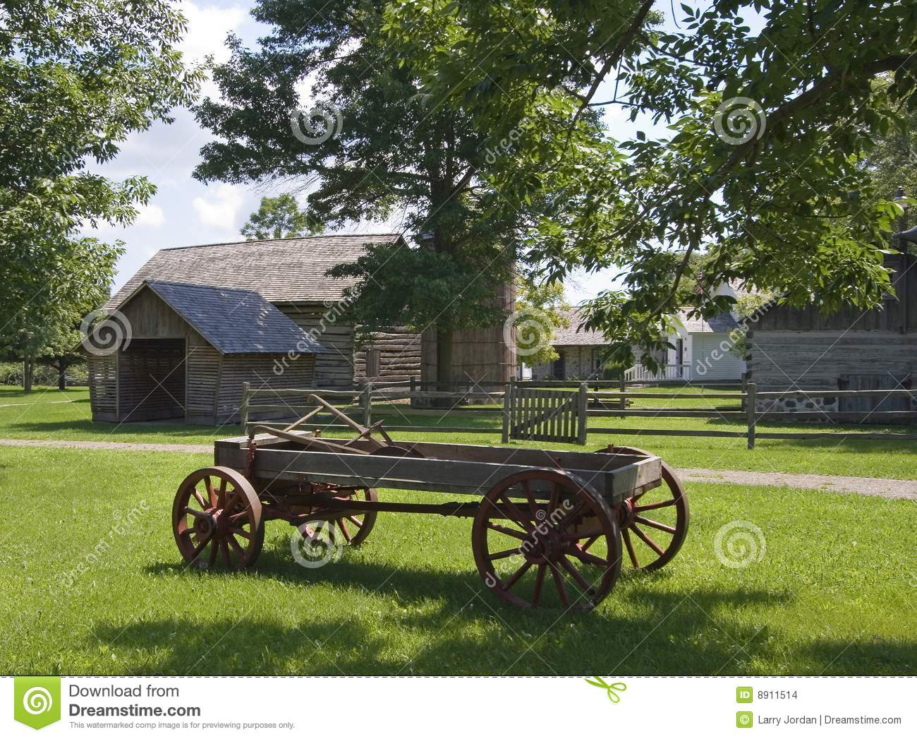 Horse Drawn Farm Wagon stock photo  Image of ranch, heritage
