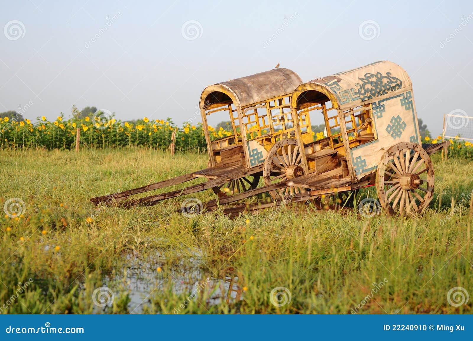 Horse-drawn Lastwagen