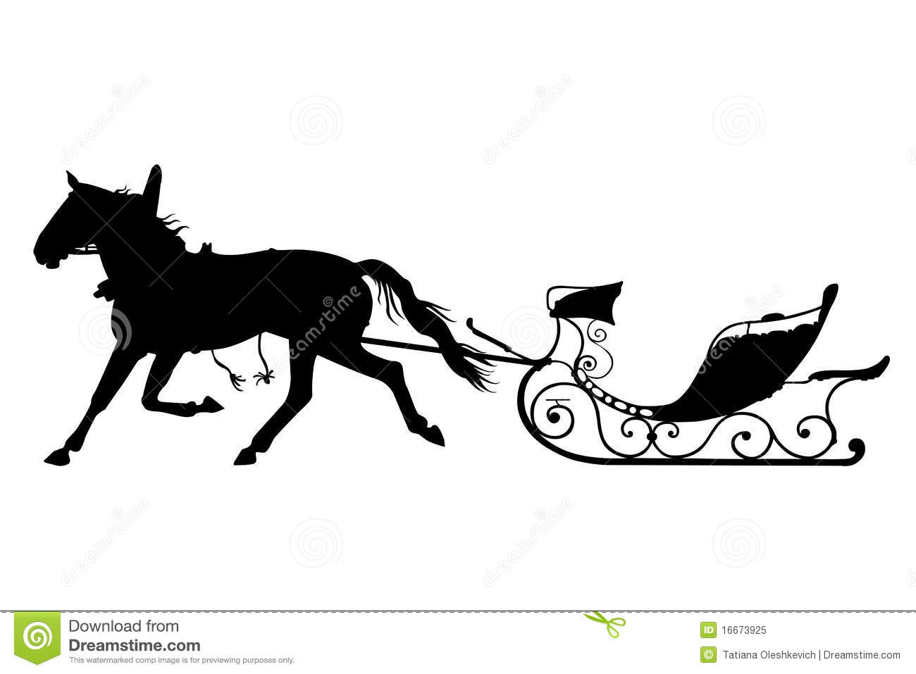 Horse With Drawn Sled Stock Image Image Of Pulling Horse 16673925