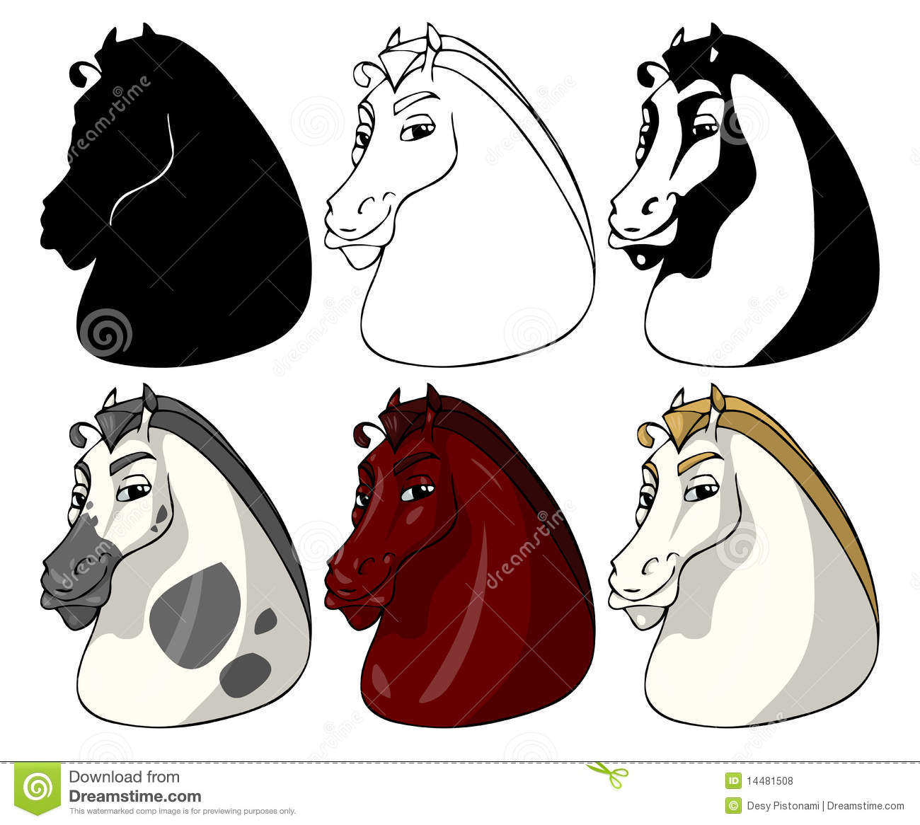 horse faces royalty free stock photos   image 14481508