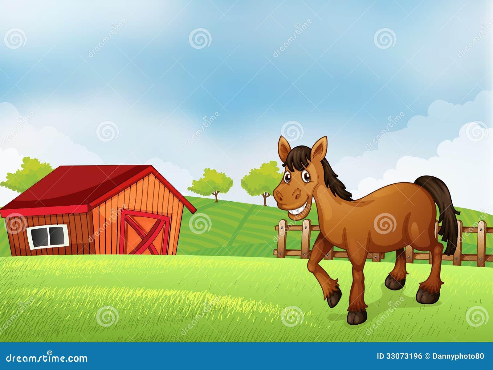 Horse Barn Clipart