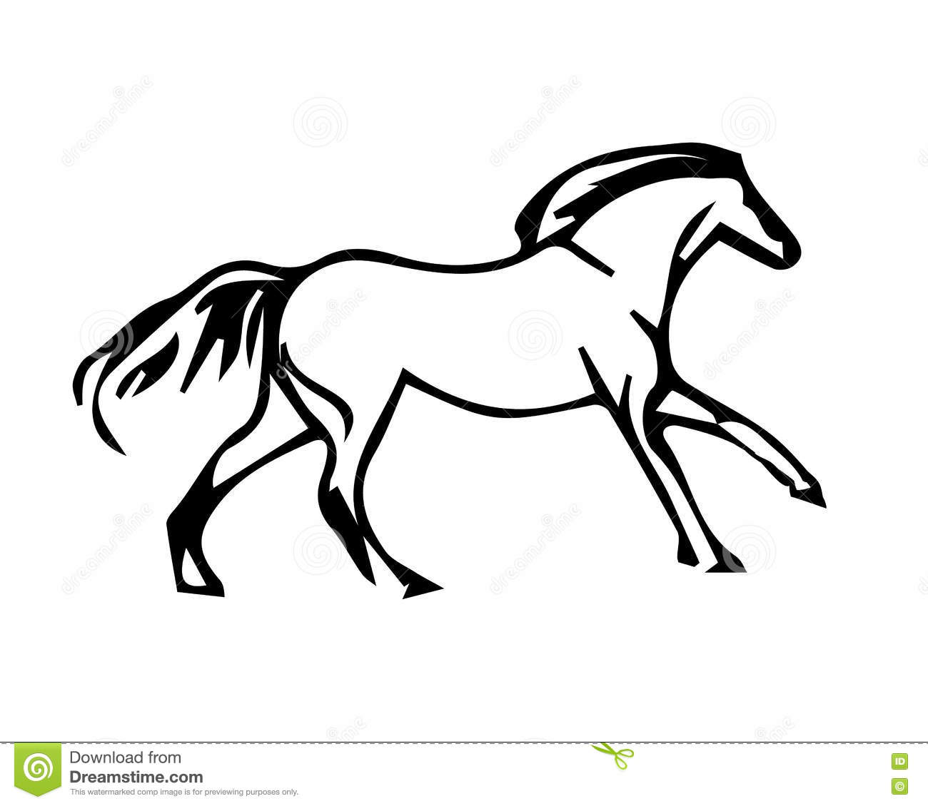 a horse galloping circuit stock vector illustration of
