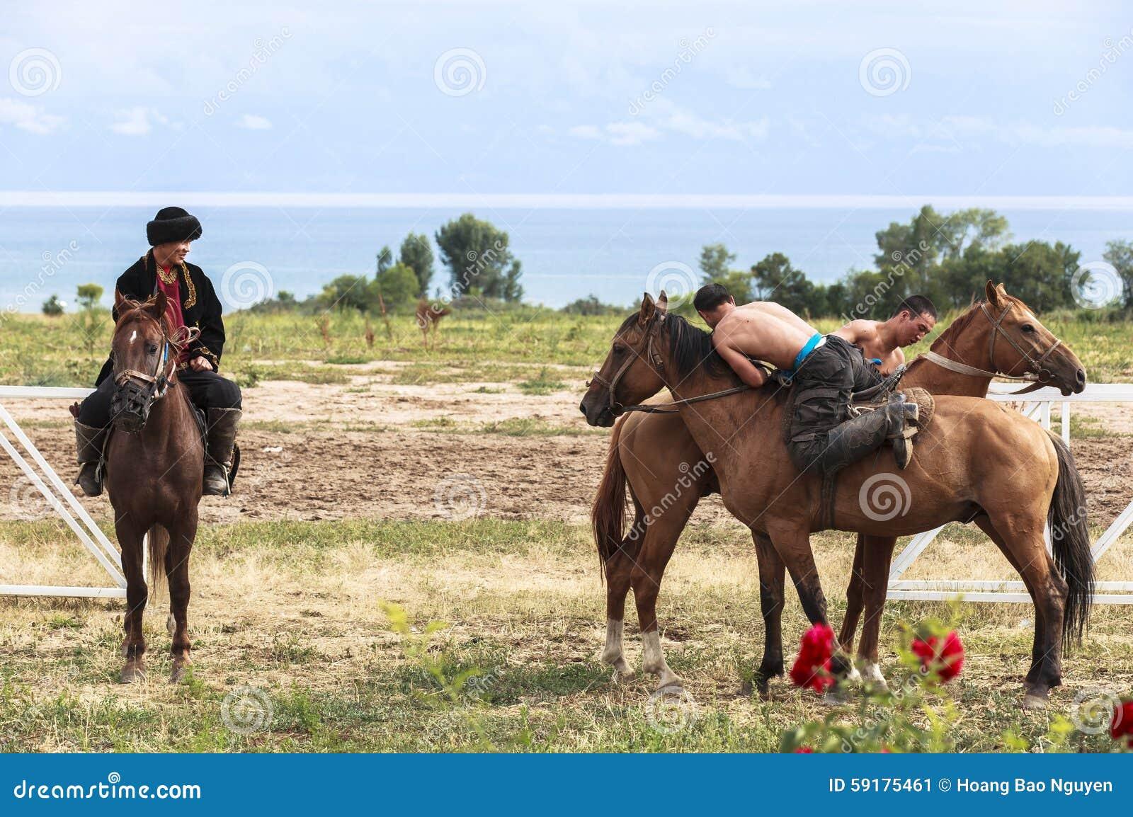 Horse game at Song Kul Lake in Kyrgyzstan