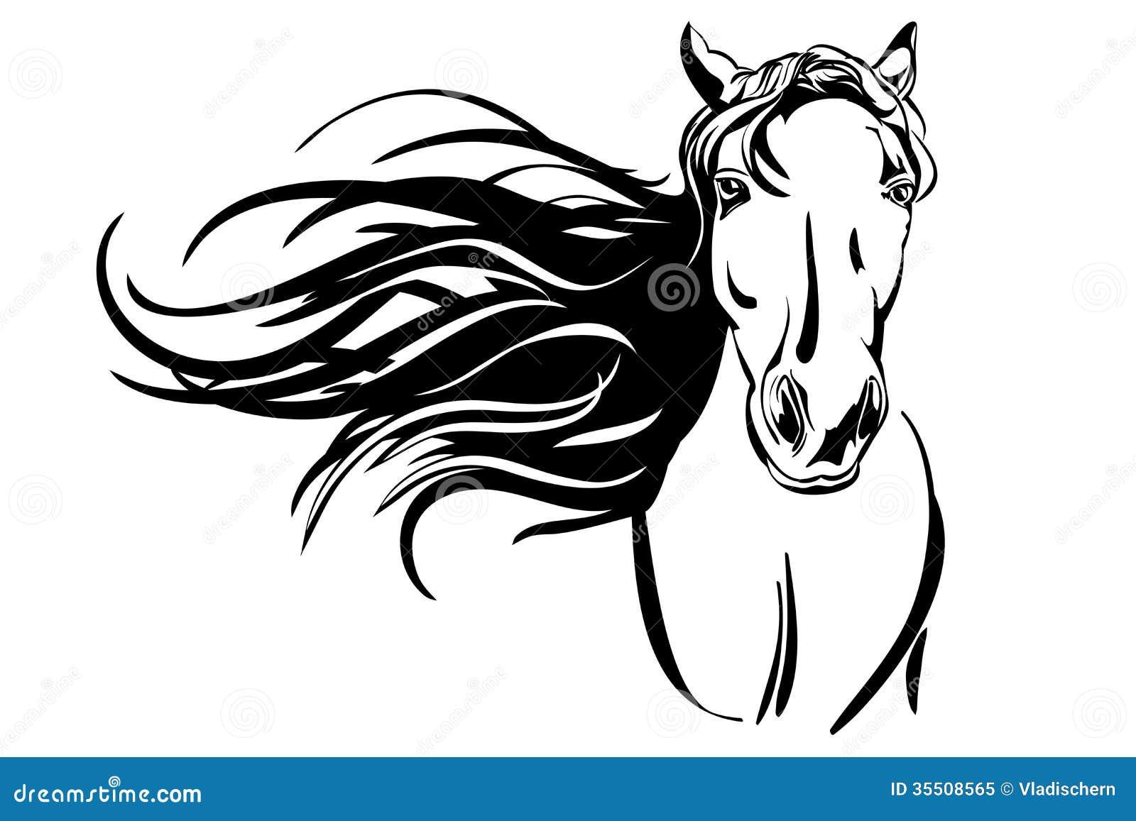 horse hand drawn vector llustration royalty free stock