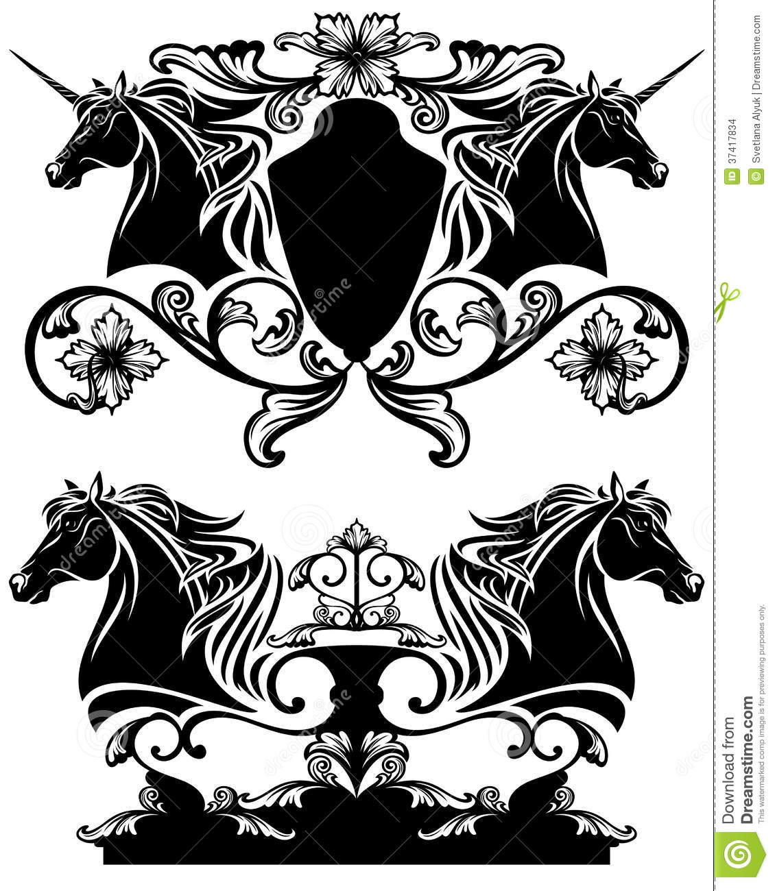 Horse Head Vector Design Stock Images - Image: 37417834