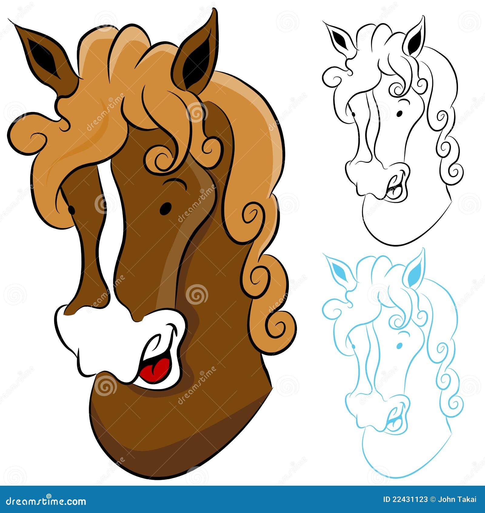 Horse Head Drawing Stock Vector Image Of Brown Closeup