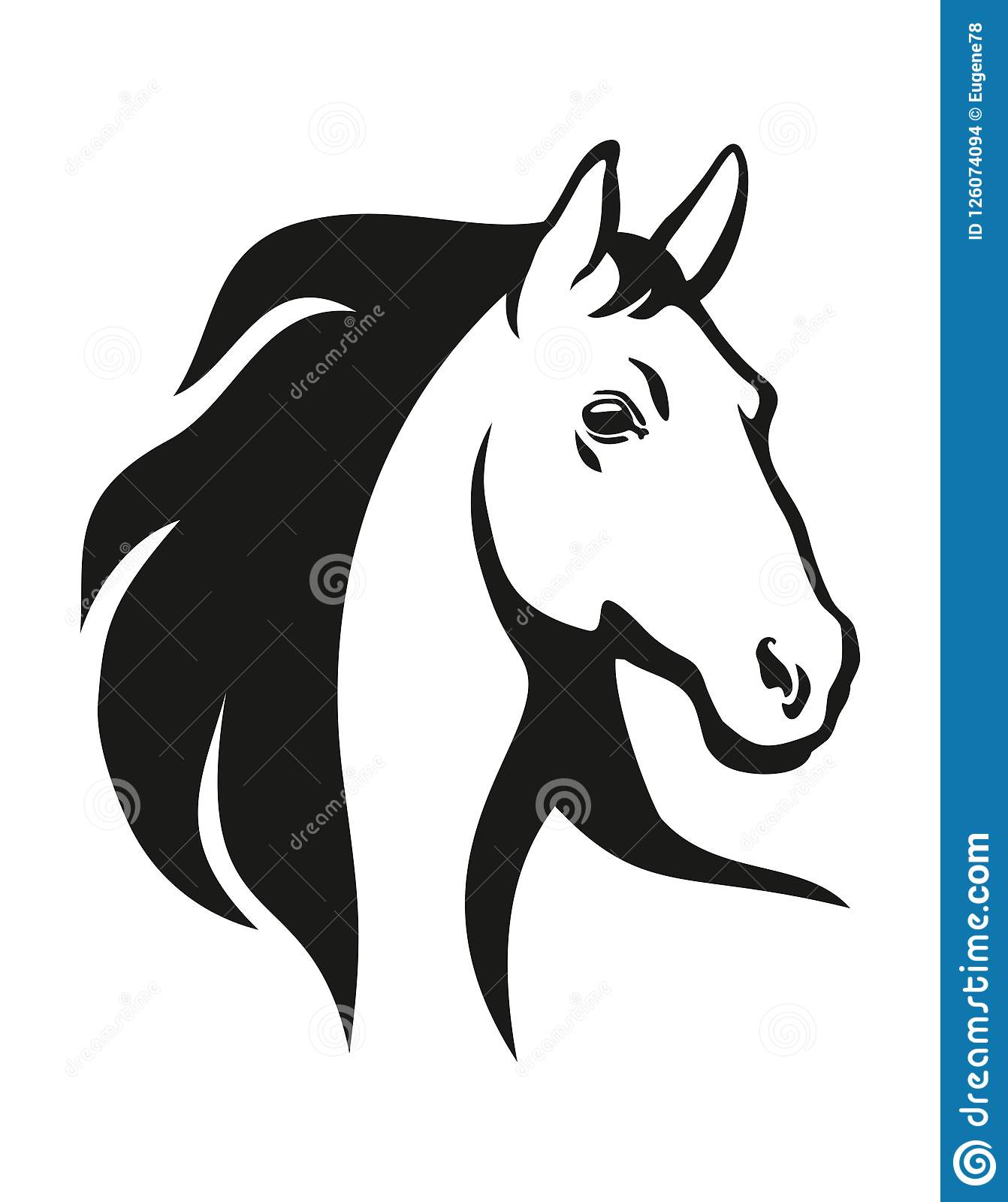Horse Head Illustration Stock Vector Illustration Of Graphic 126074094