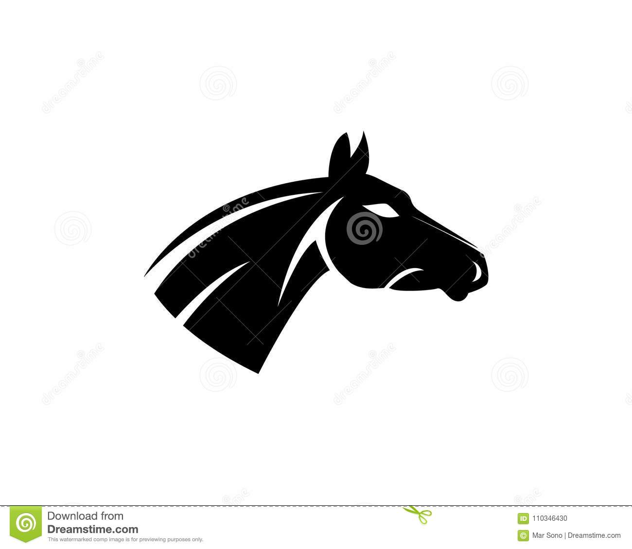 Horse Head Logo Template Vector Icons App Stock Vector