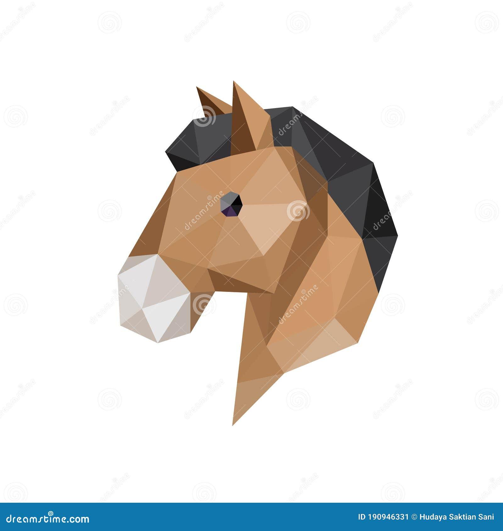 Horse Head With Polygonal Geometric Style Stock Vector Illustration Of Farm Logo 190946331