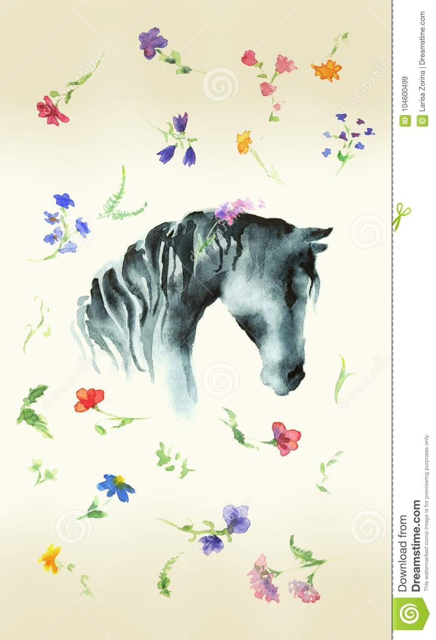 Horse Watercolor Stock Illustrations 5 499 Horse Watercolor Stock Illustrations Vectors Clipart Dreamstime