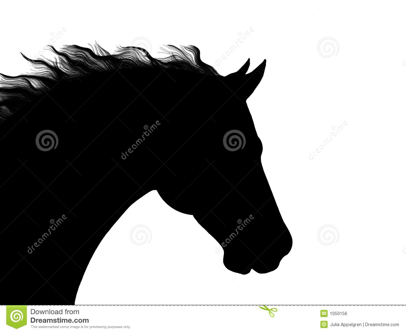 Quarter horse head silhouette pictures