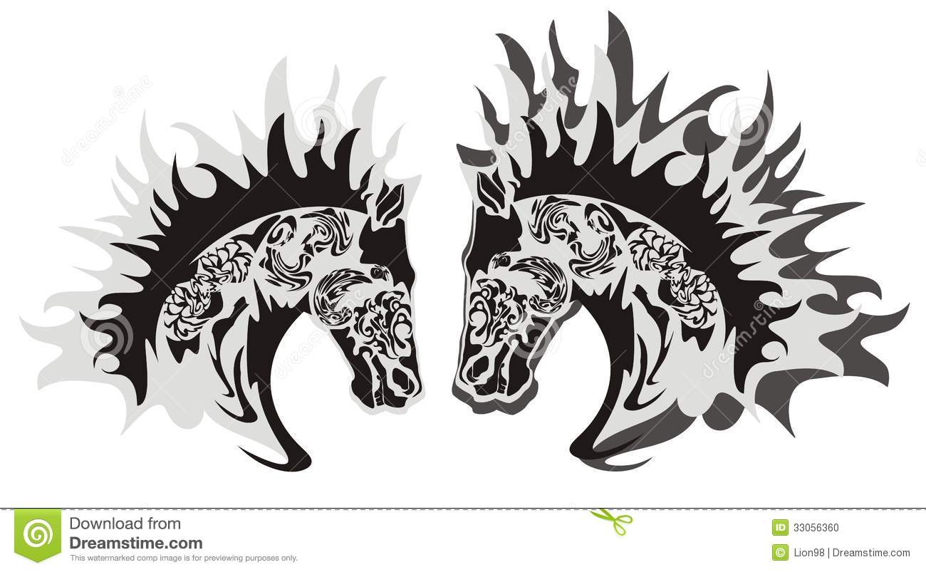 Horse Head Symbol, Vector Stock Photo - Image: 33056360