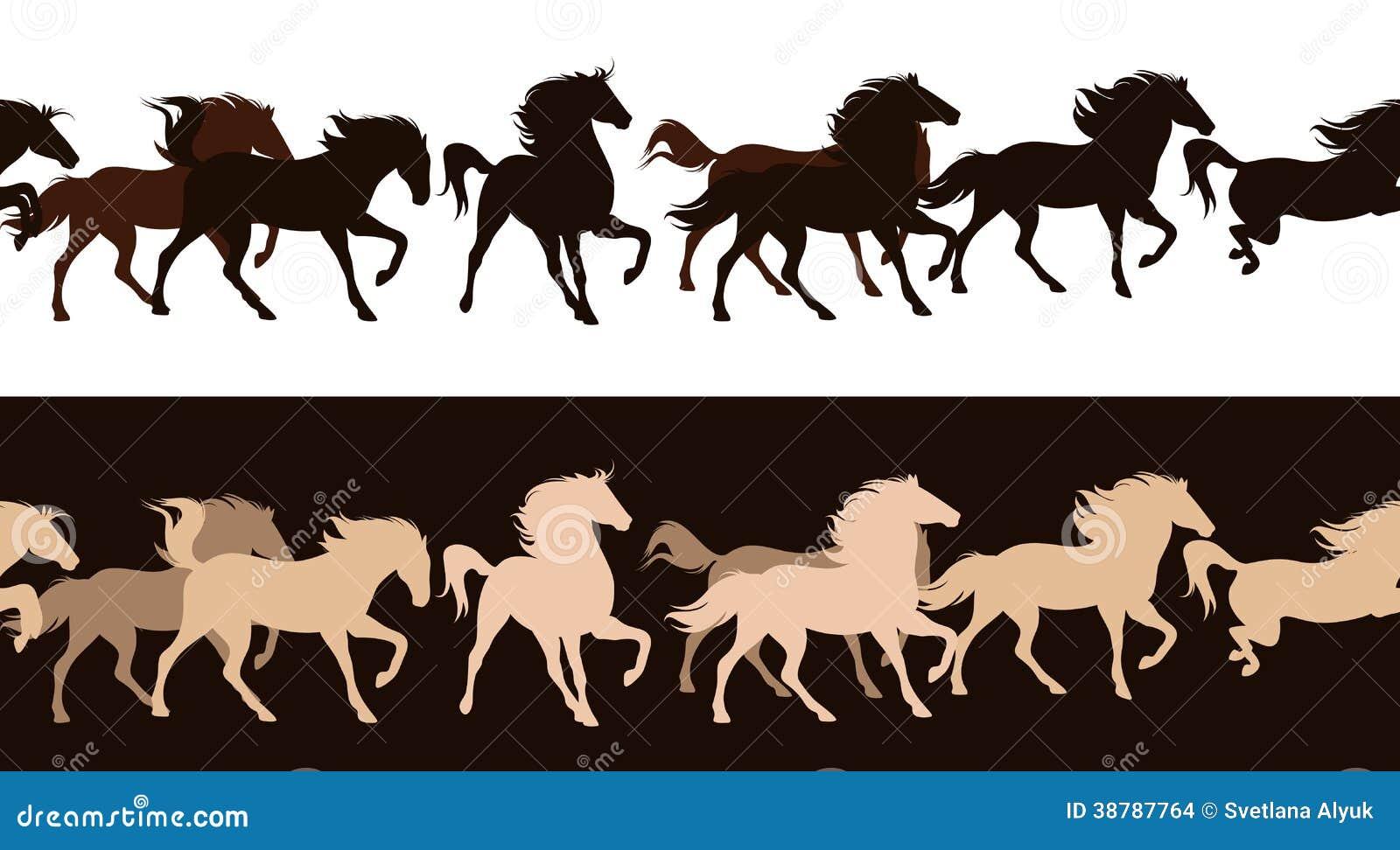 Horse herd vector stock vector. Illustration of design ...