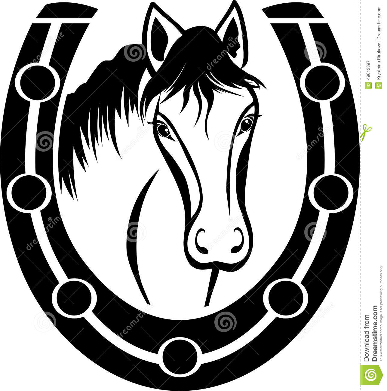 horse and horseshoe stock vector image 49612397 clipart horseshoe scroll clipart horseshoe crosses