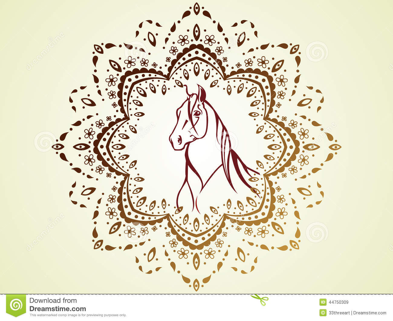 Horse 08 Stock Vector Image 44750309