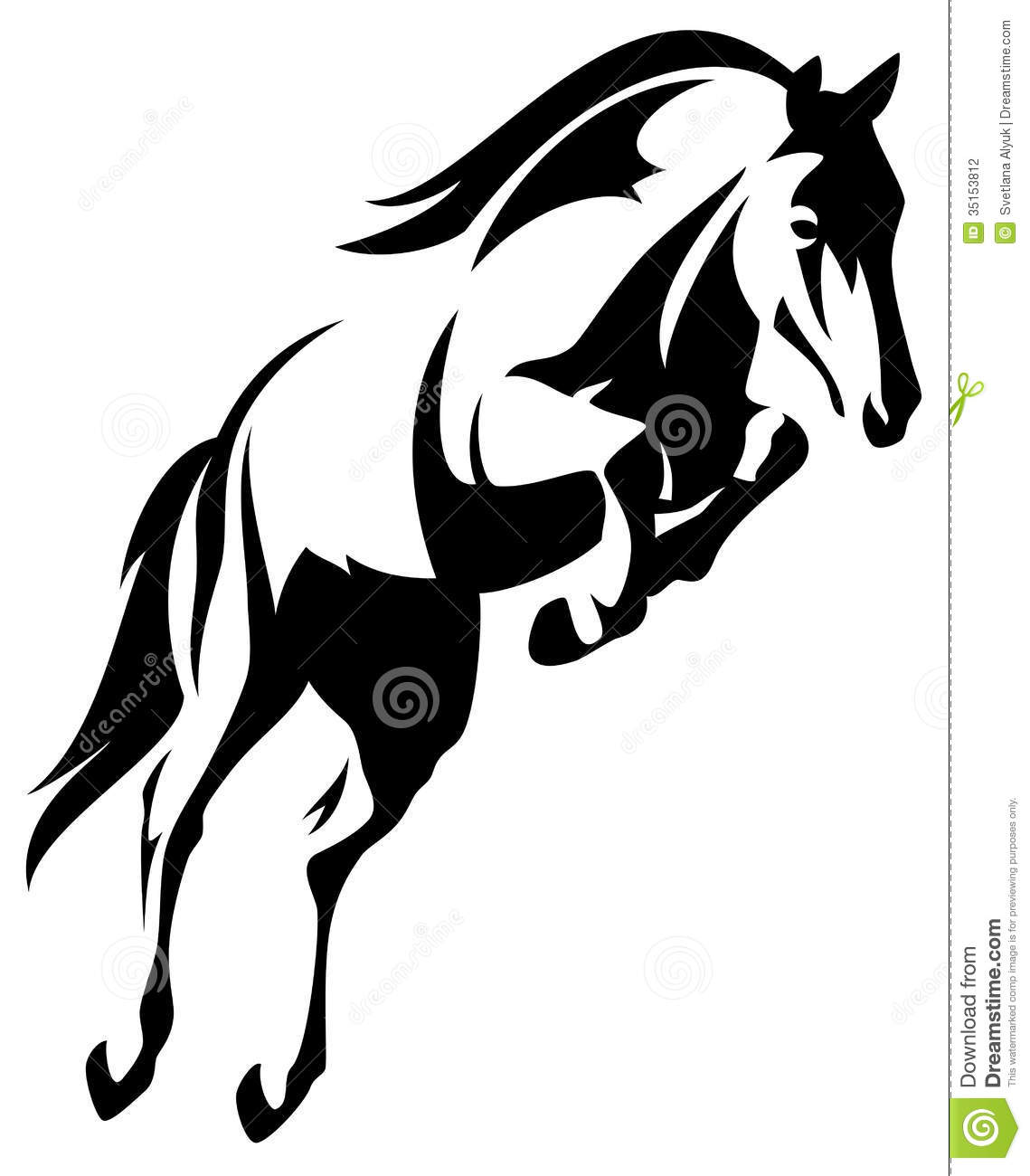 Horse Jump Vector Stock Photography - Image: 35153812
