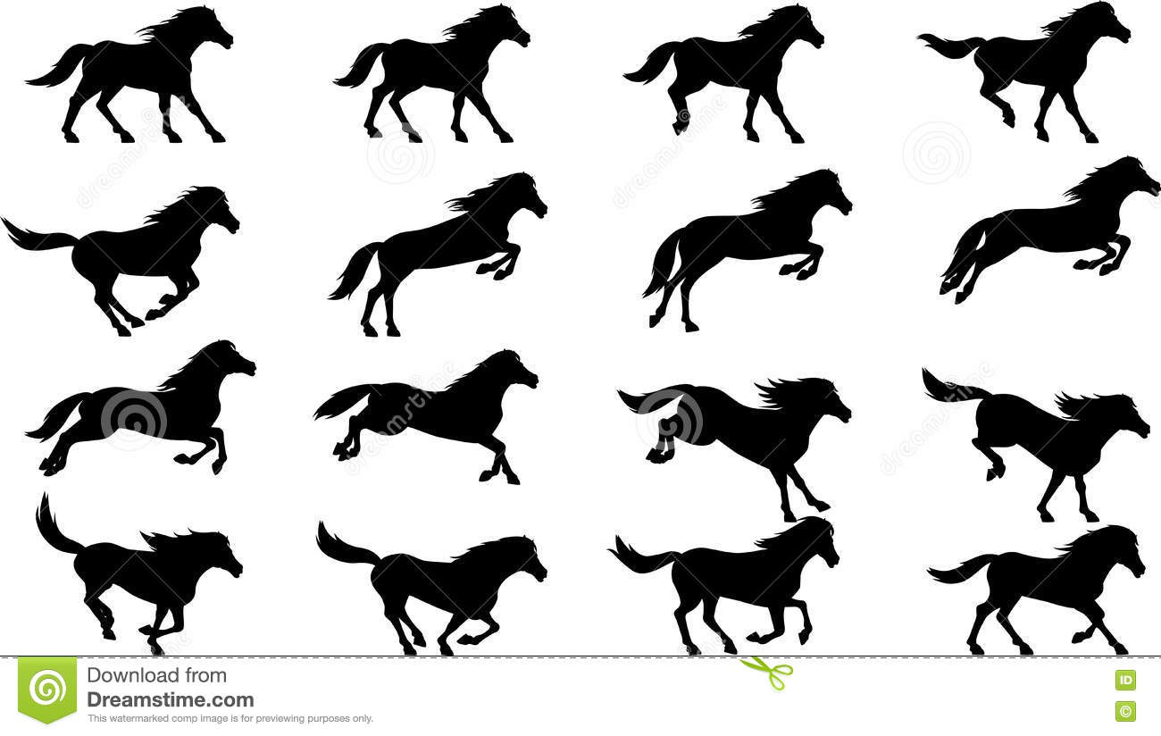Dog Cat And Horse Vector