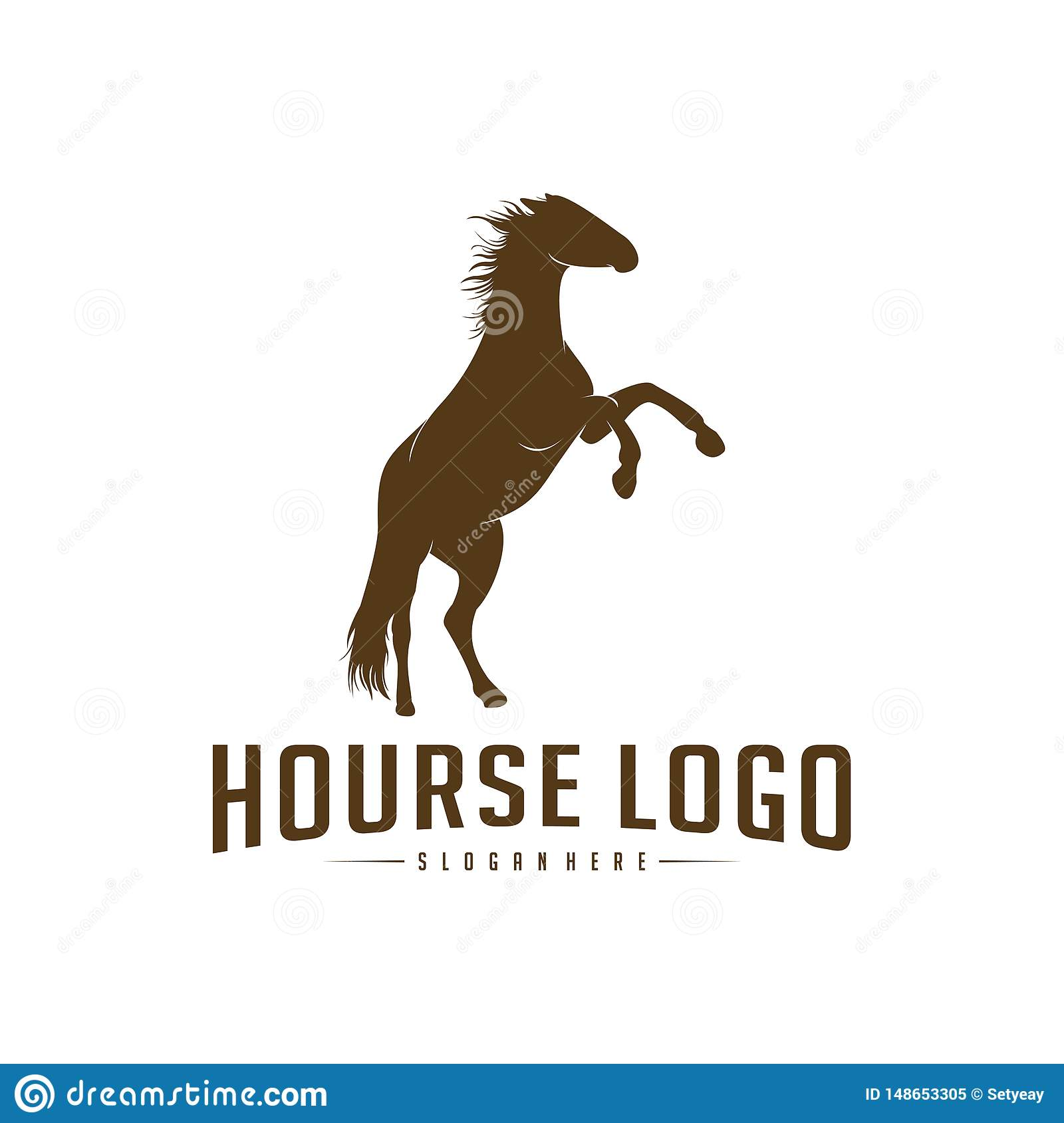 Horse Logo Design Icon Symbol Horse Vector Horse Silhouette Stock Vector Illustration Of Horses Drawing 148653305