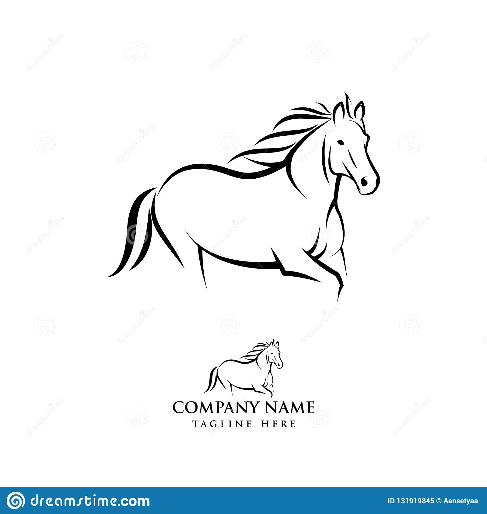 Horse Logo Design Illustration Horse Silhouette Vector Horse Vector Illustration Stock Vector Illustration Of Equestrian Beautiful 131919845