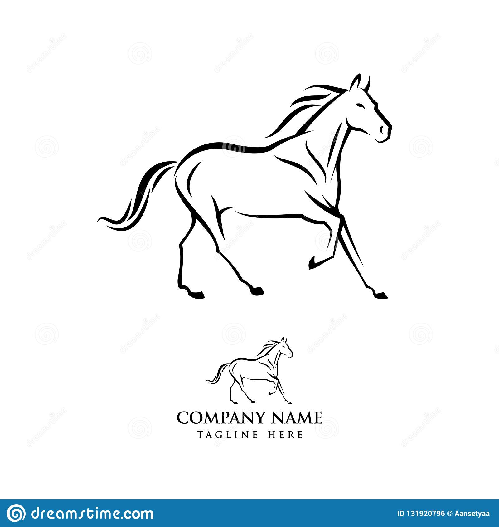 Horse Logo Design Illustration Horse Silhouette Vector Horse Vector Illustration Stock Vector Illustration Of Landscape Equestrian 131920796