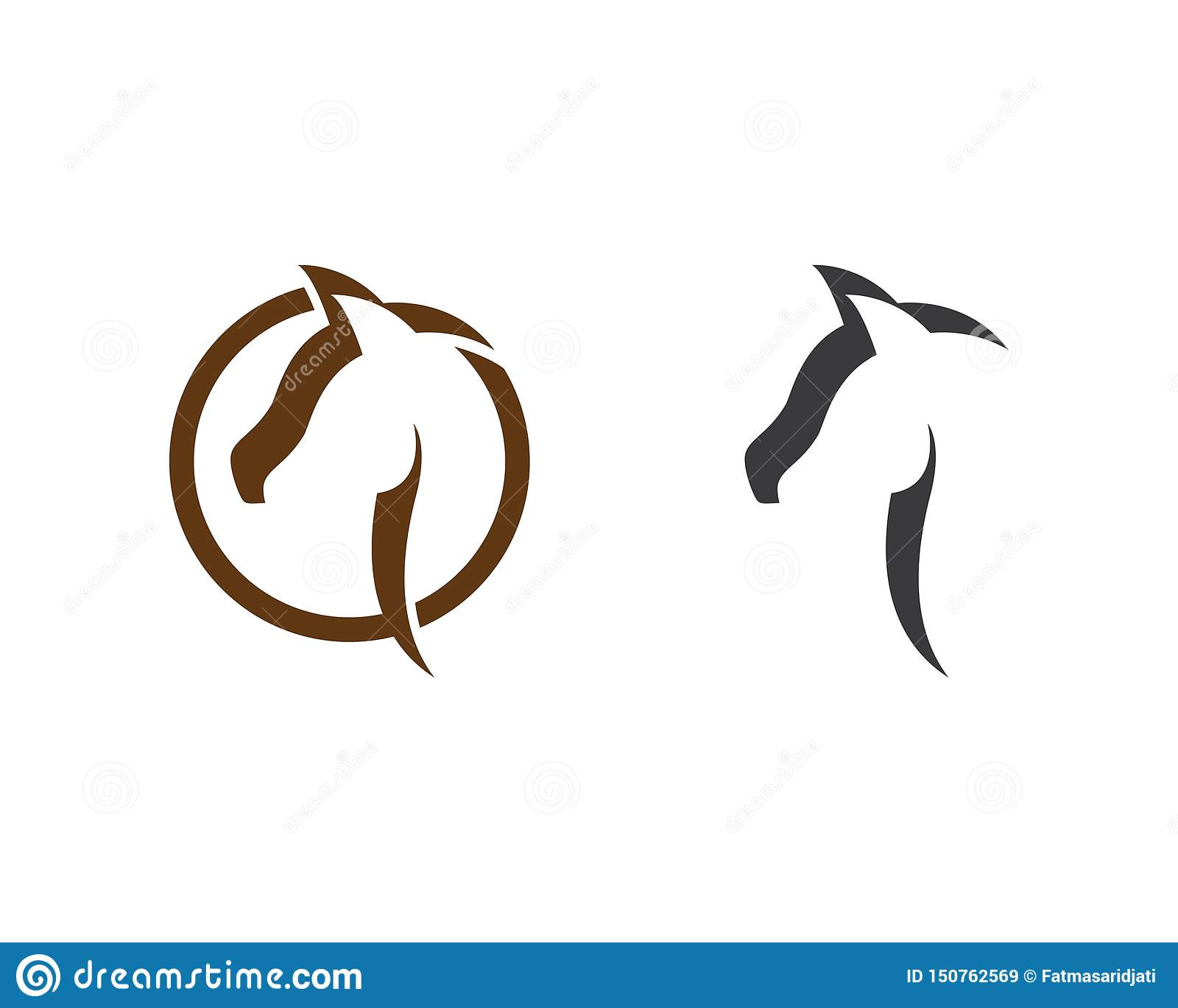 Horse Logo Template stock vector  Illustration of equestrian