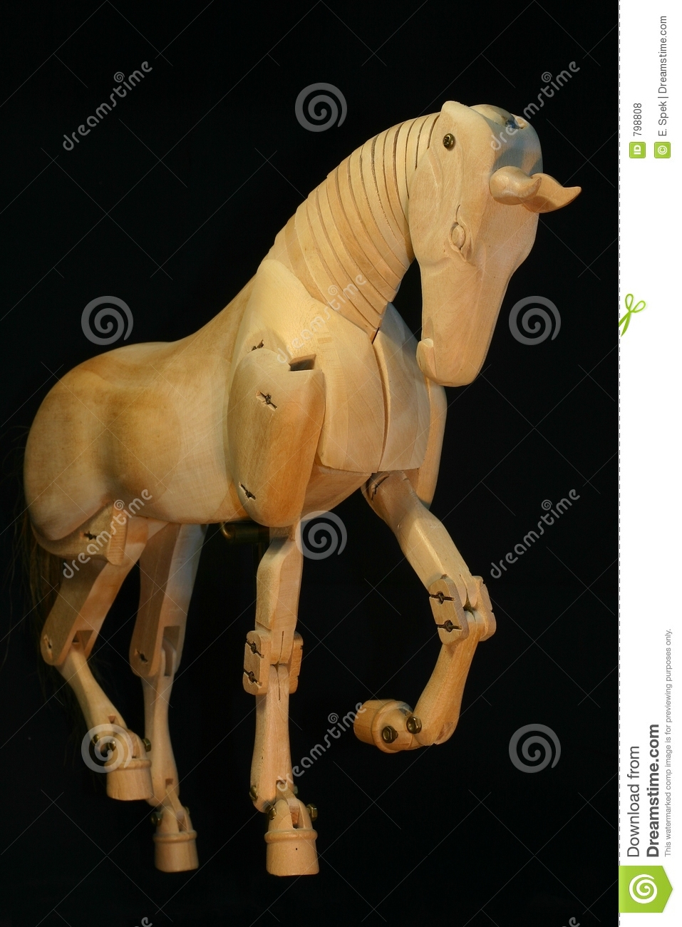 Horse Mannequin Piaffe Royalty Free Stock Photos - Image: 798808